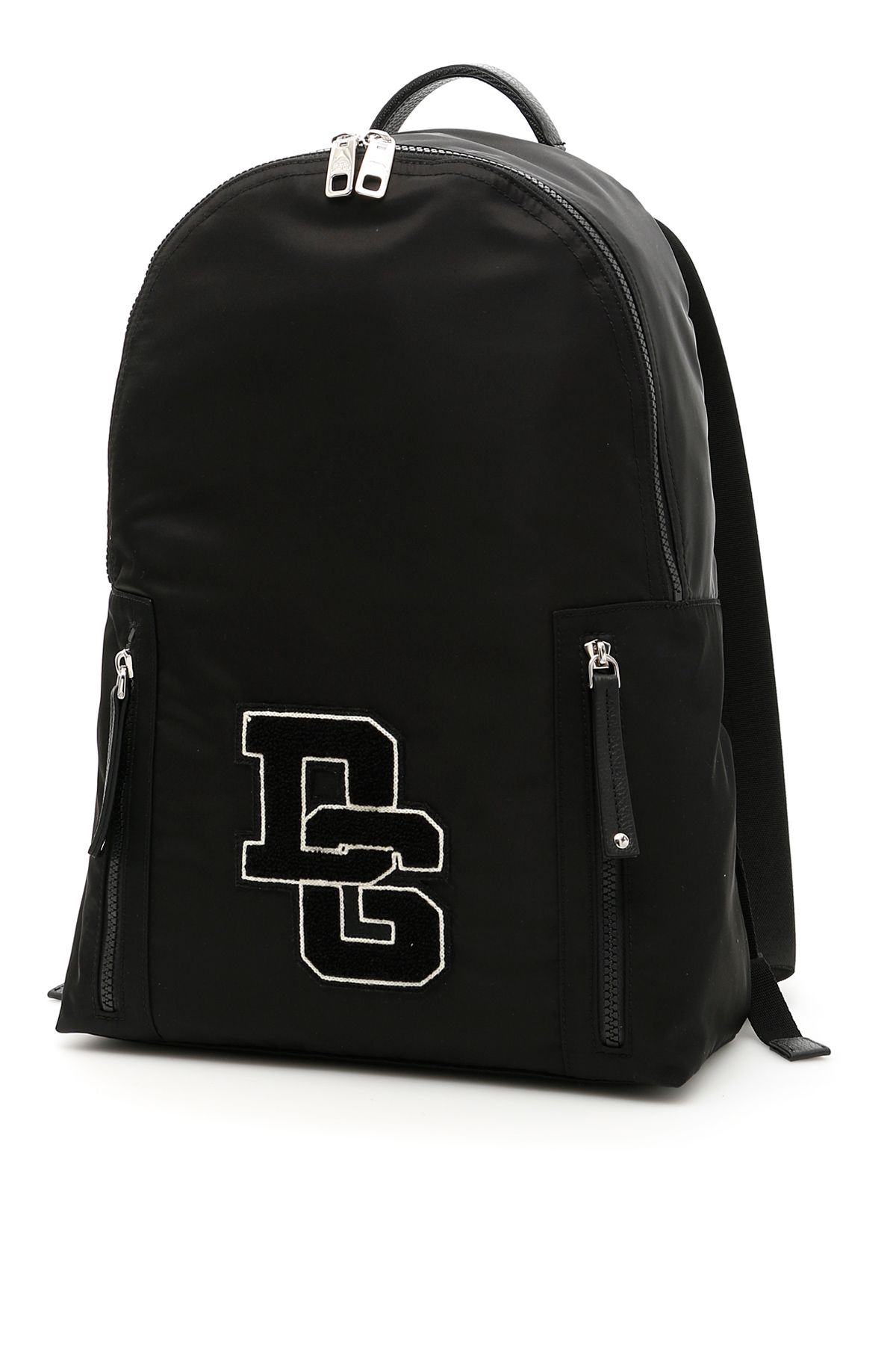 Nylon Backpack With Patch