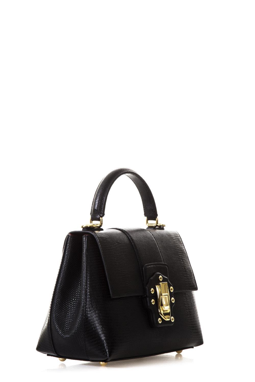 Dolce & Gabbana Lucia Iguana Print Leather Bag