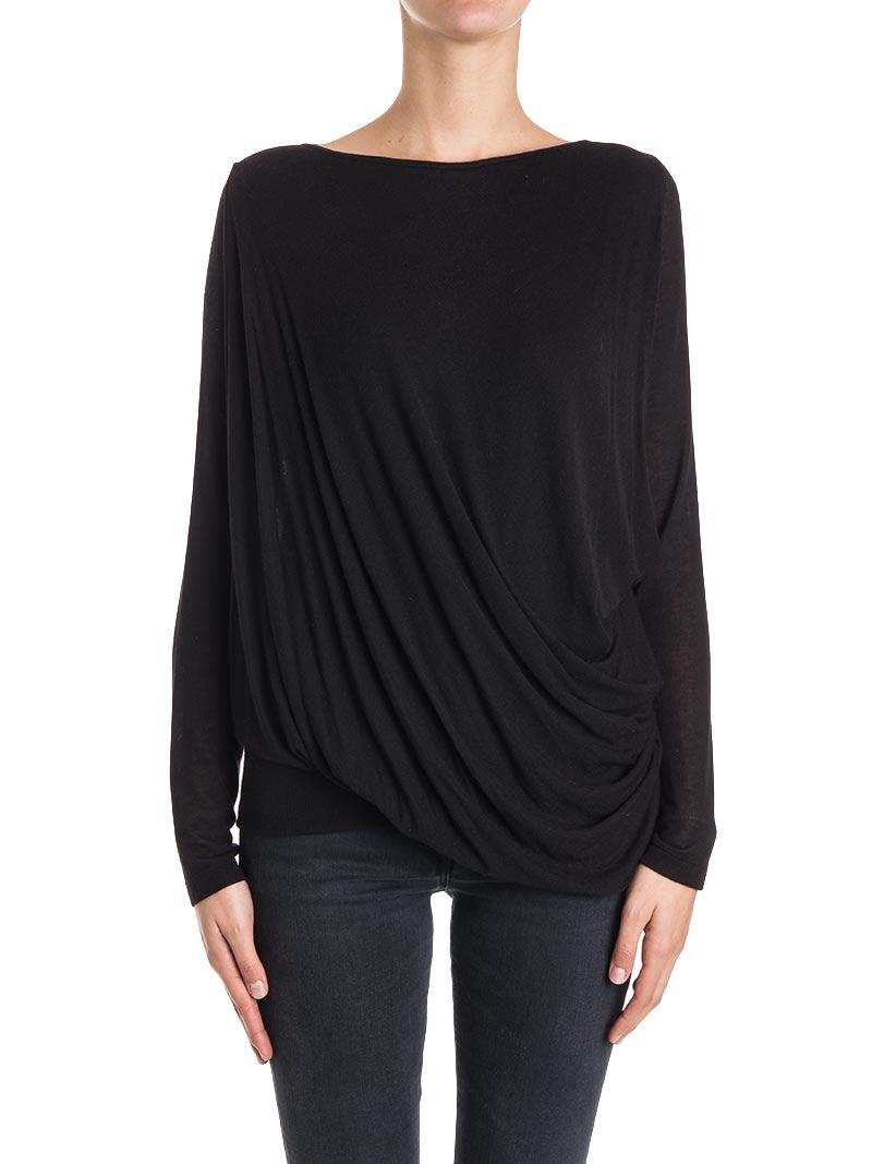 PLEIN SUD JEANIUS Viscose Blend T-Shirt in Black