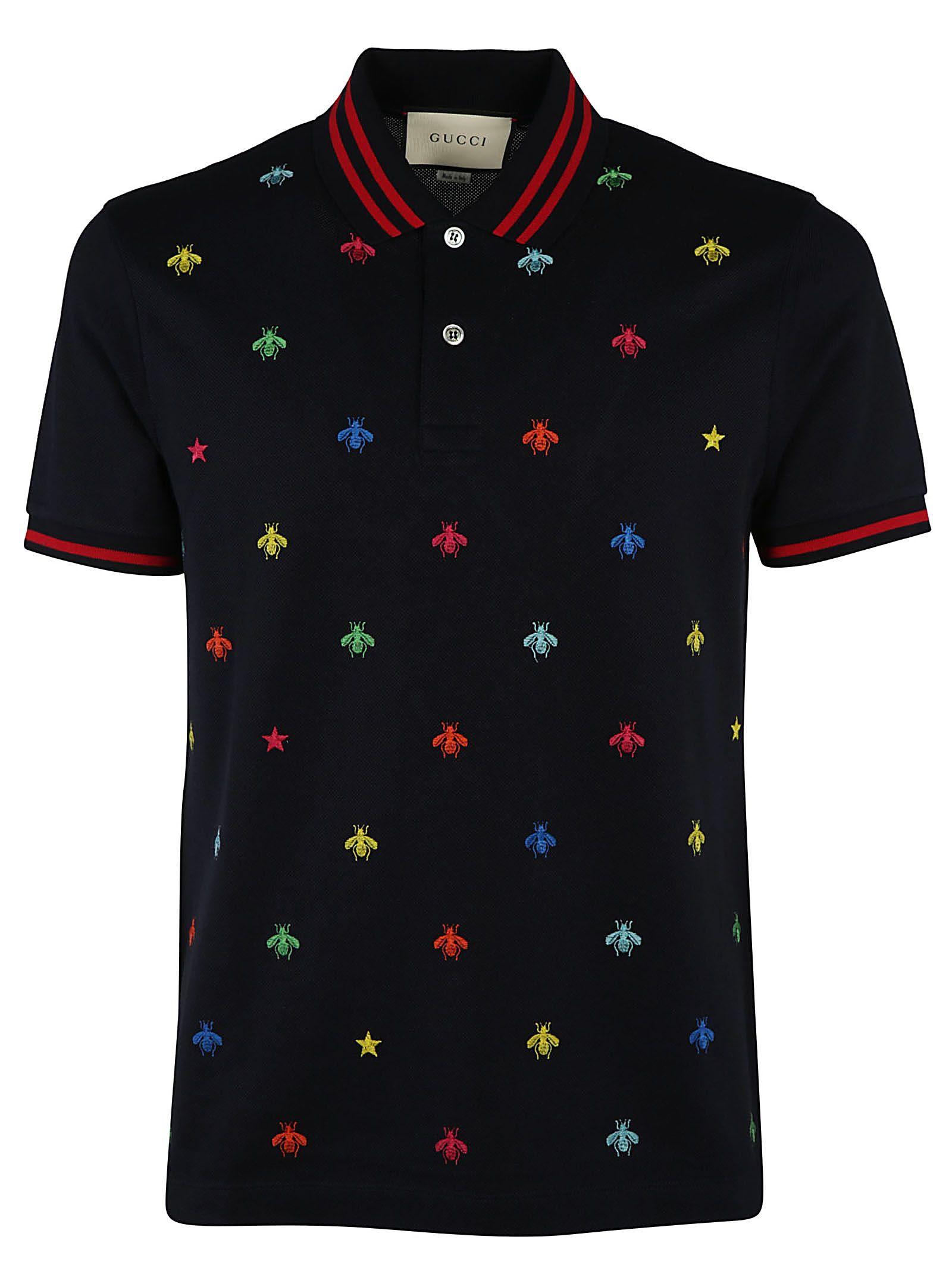 Gucci Bees And Stars Polo Shirt