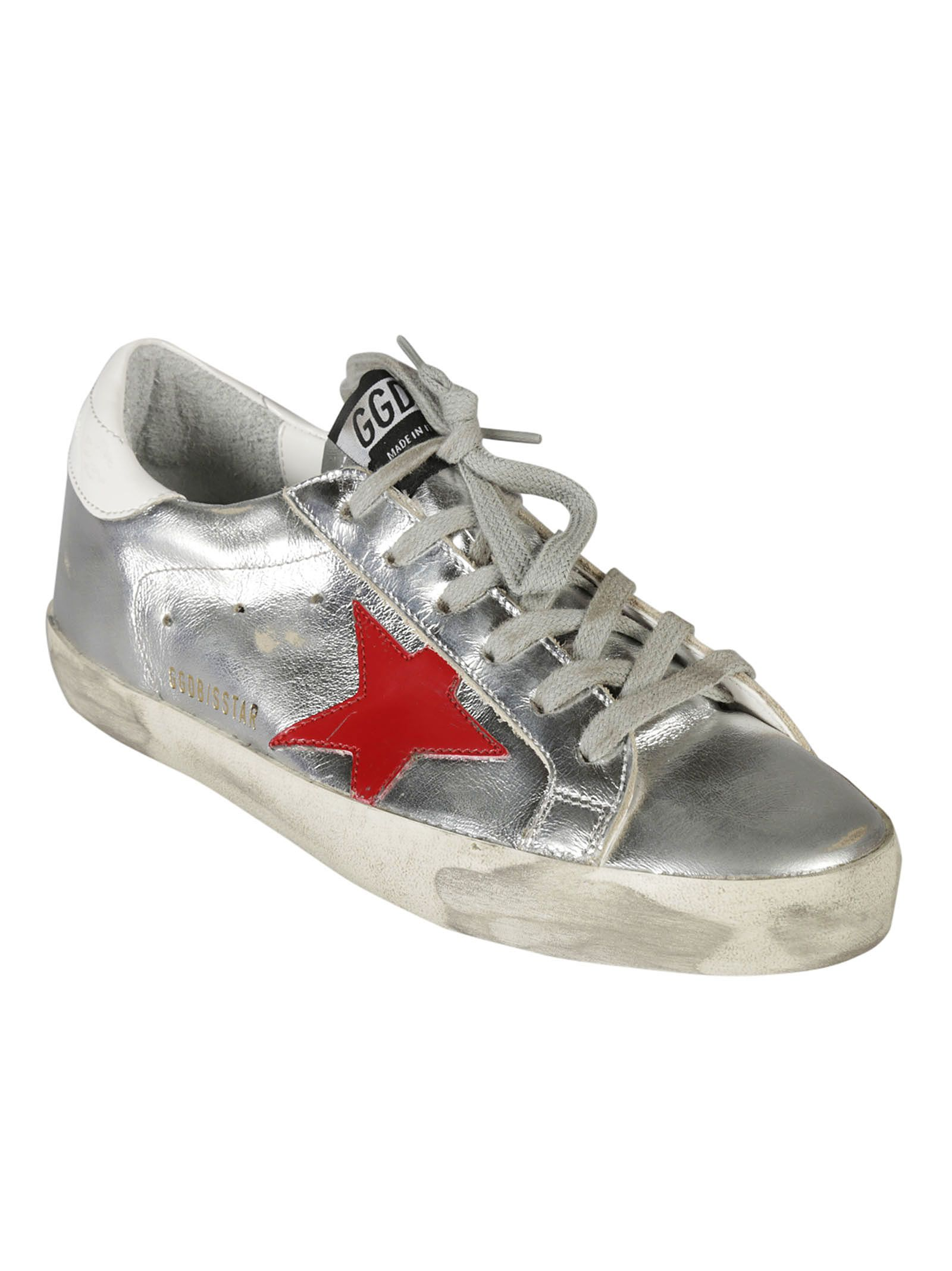 golden goose golden goose deluxe brand superstar sneakers silver women 39 s sneakers italist. Black Bedroom Furniture Sets. Home Design Ideas