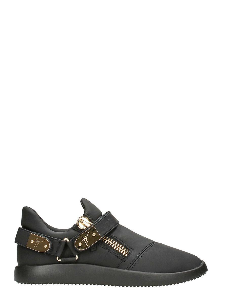 Giuseppe Zanotti Black Leather Runner Sneakers