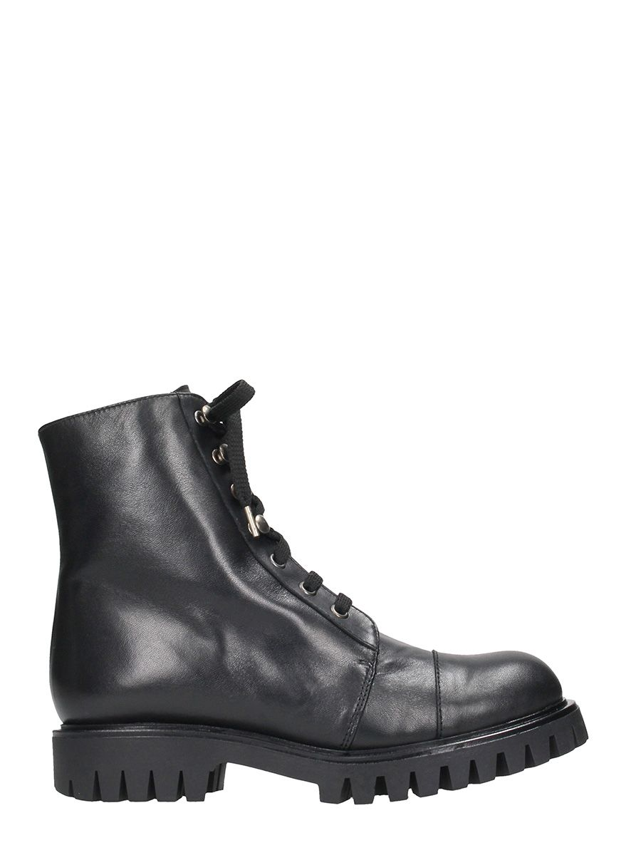 Ras Black Leather Boots
