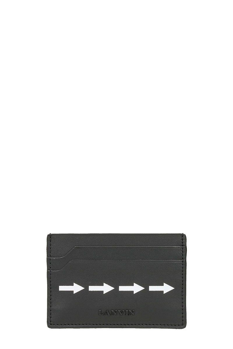 Lanvin Black White Arrow Wallet