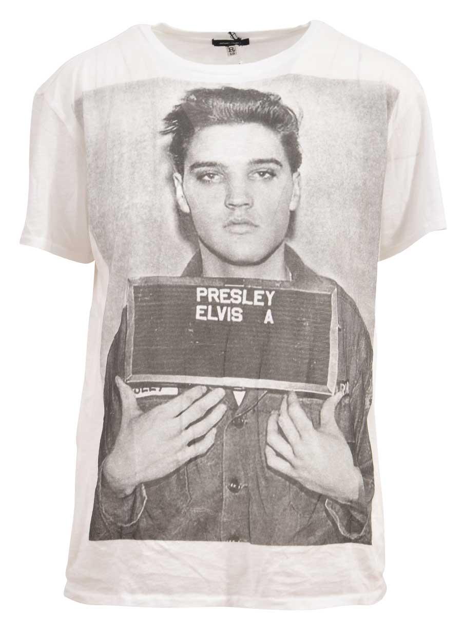 R13 Elvis Mugshot T-shirt