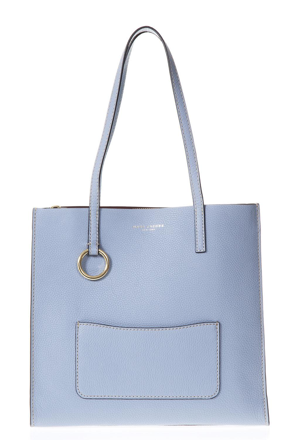 Marc Jacobs Blue Leather Shopping Bag