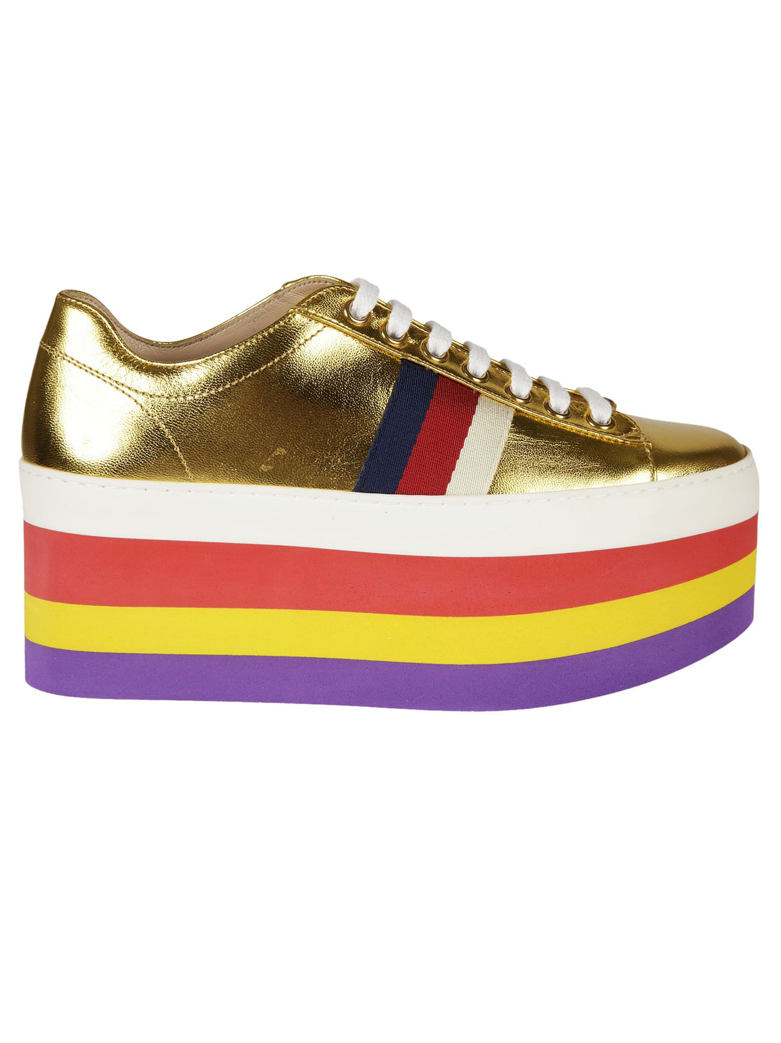 Gucci Gucci Metallic Platform Sneakers
