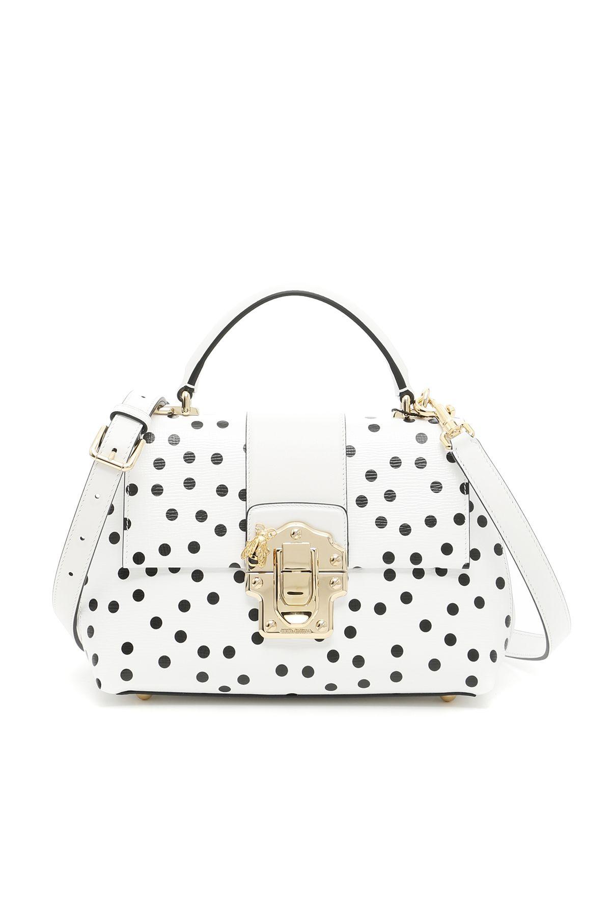 7ed5783a85e Dolce   Gabbana Lucia Bag In Pois Piccolo Fdo Biancobianco   ModeSens