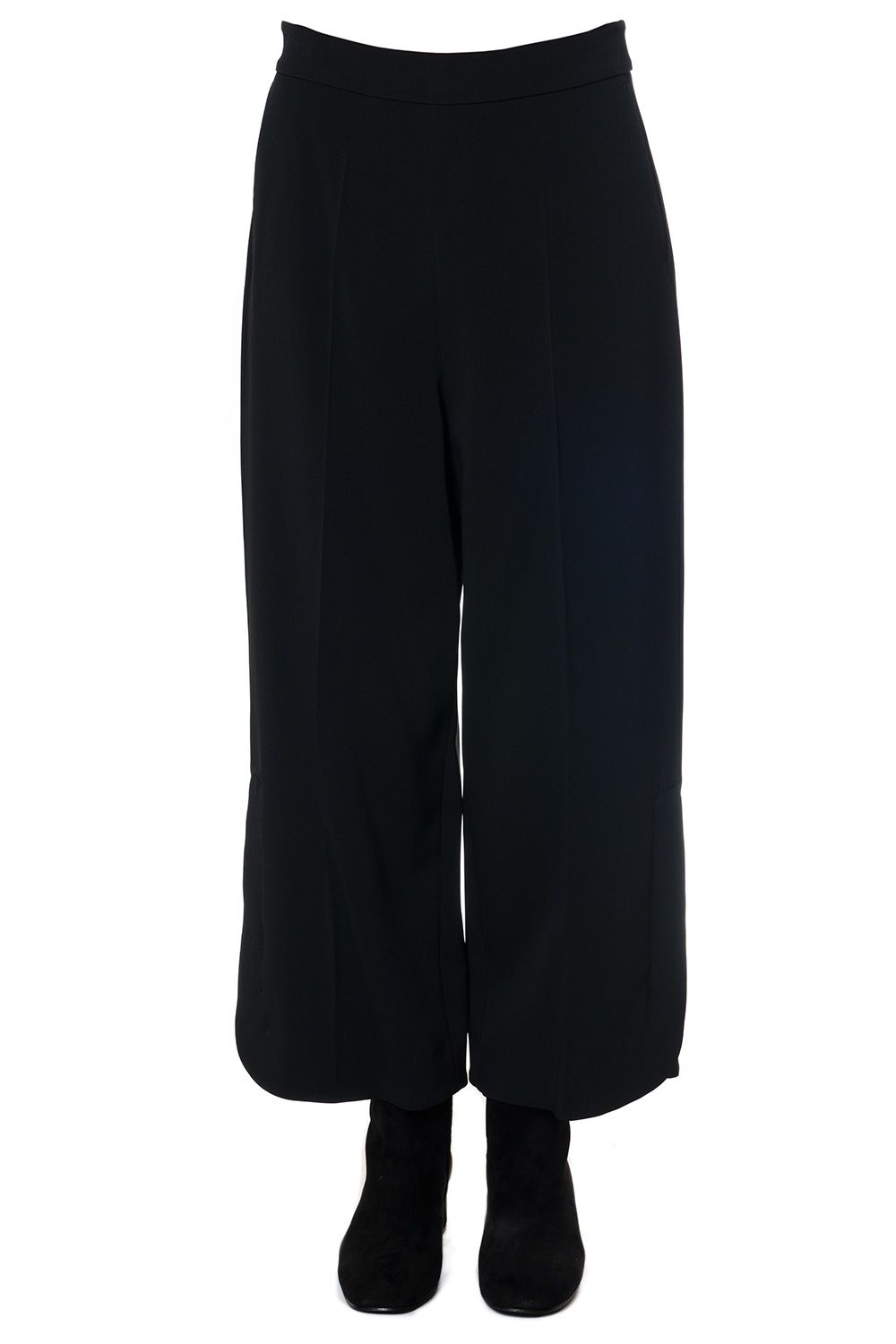 SportMax Oversized Viscose Crepe Trousers