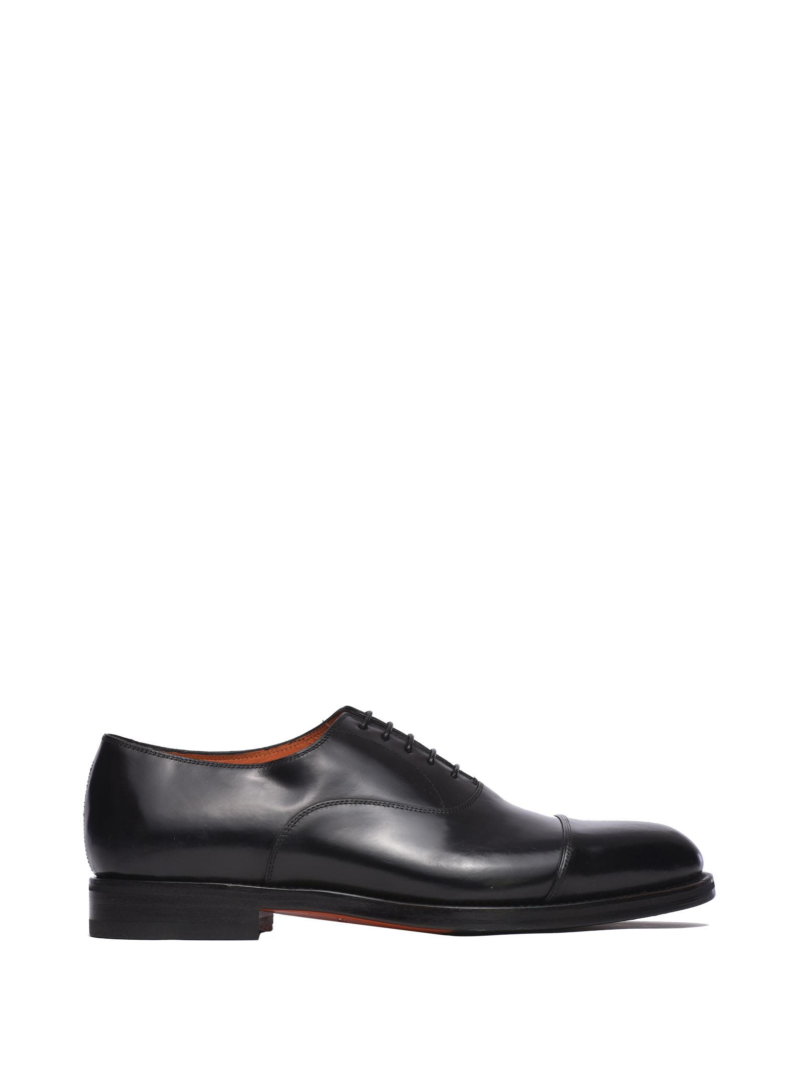 Santoni Leather Lace-ups
