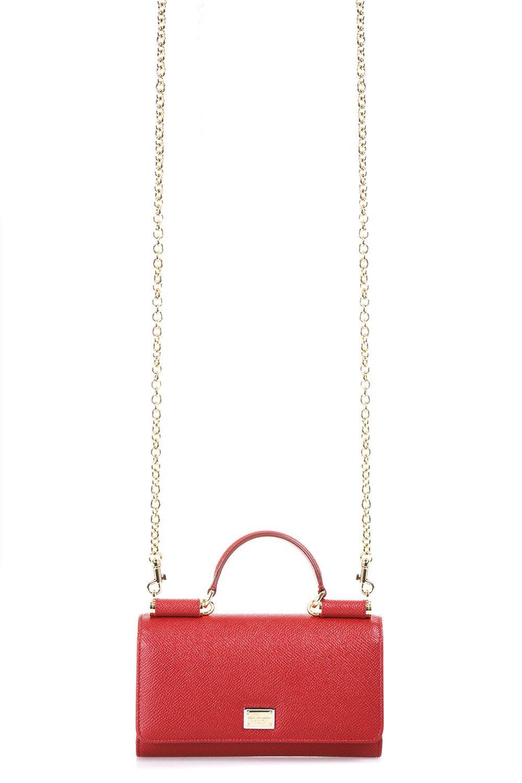 Dolce & Gabbana Dauphine Leather Clutch