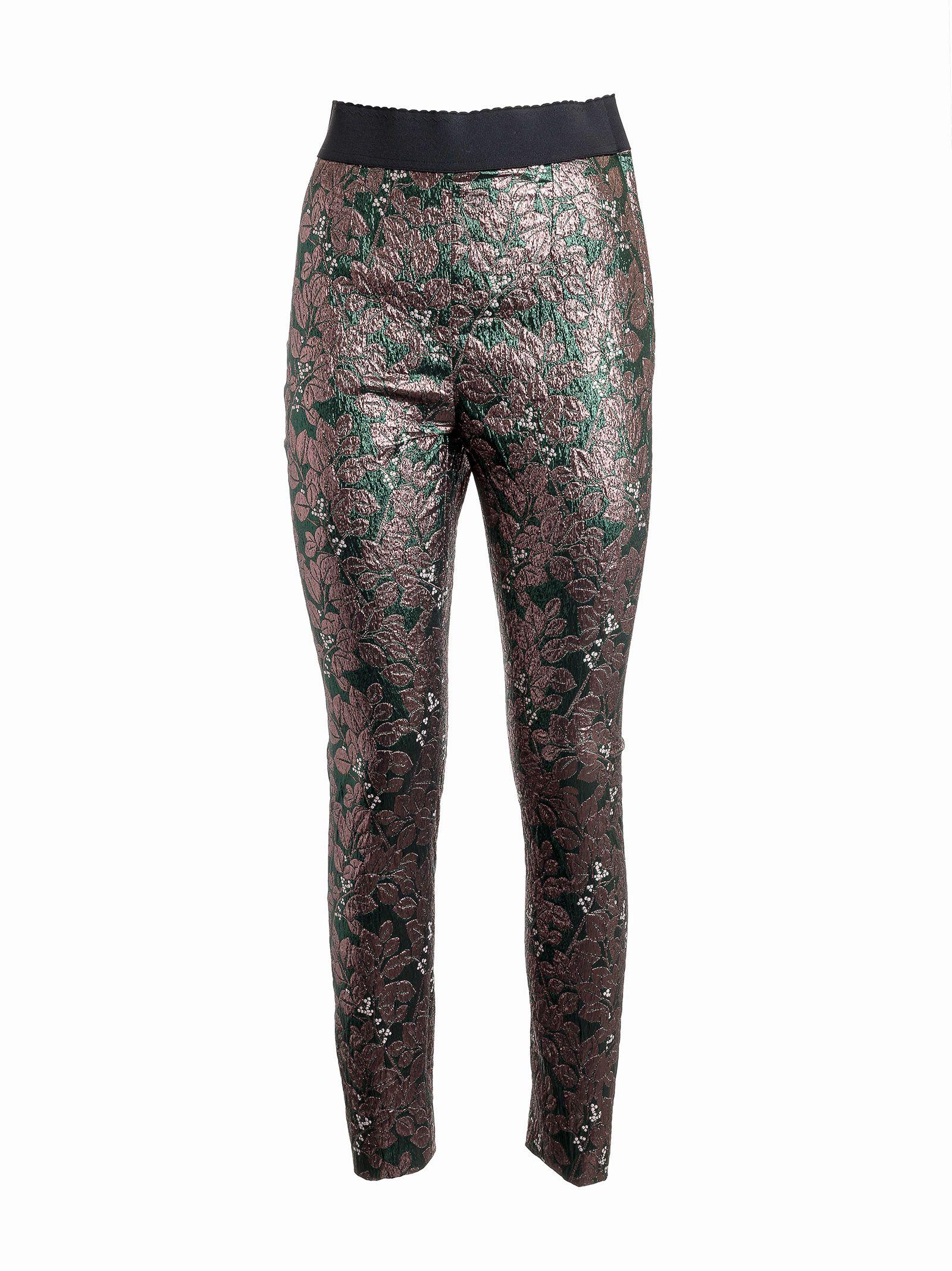 Dolce & Gabbana Leaf Print Trousers