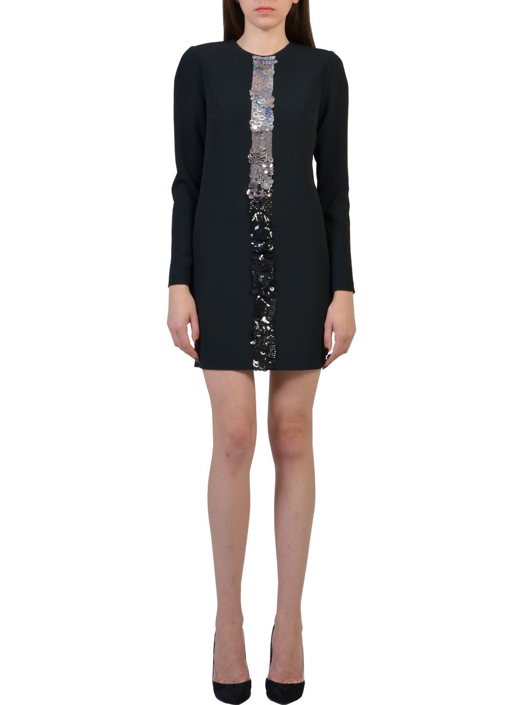 Dsquared2 Long Sleeves Dress With Paillettes