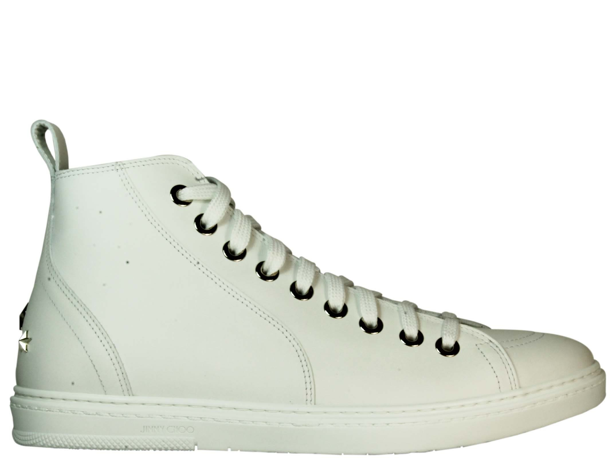 Jimmy Choo Colt White Hi-top Sneakers