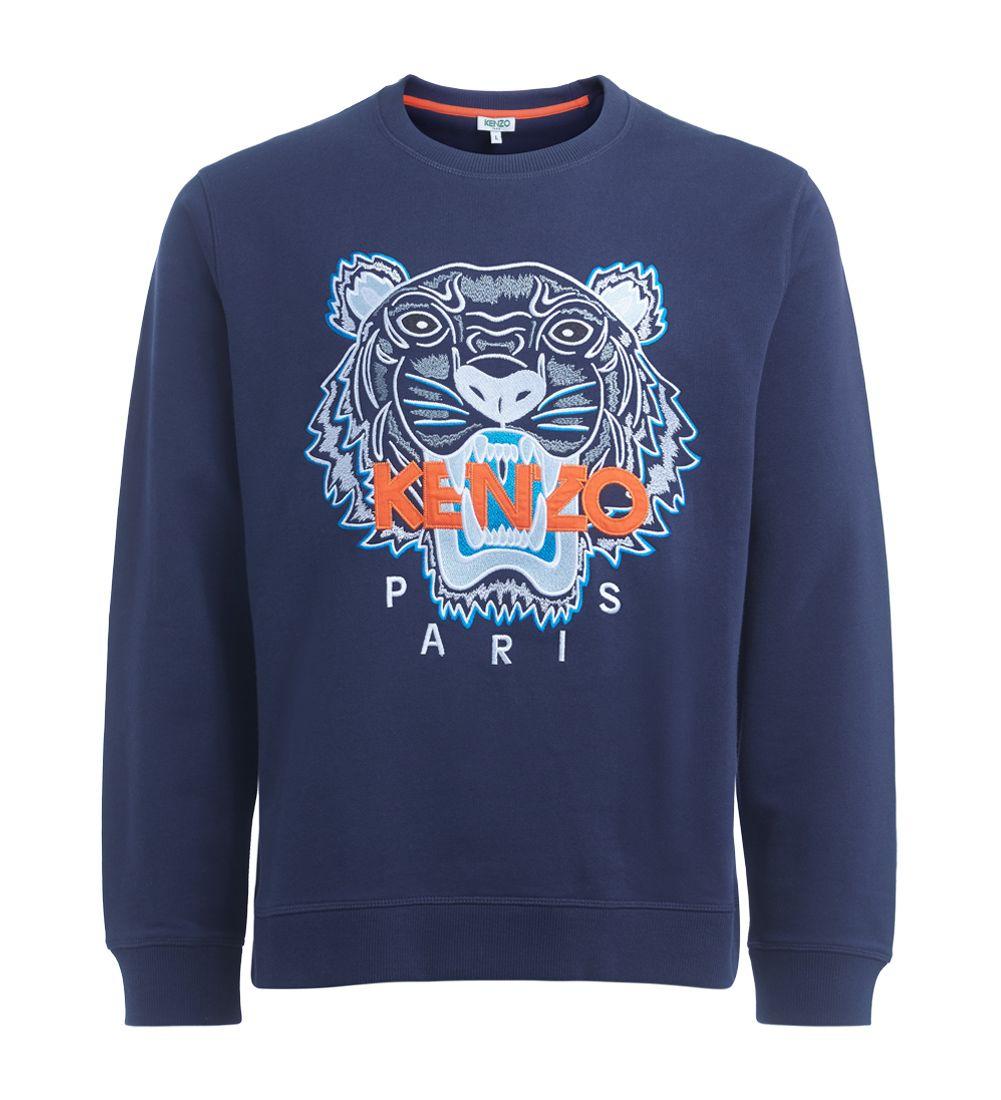 Kenzo Tiger Blue Sweater