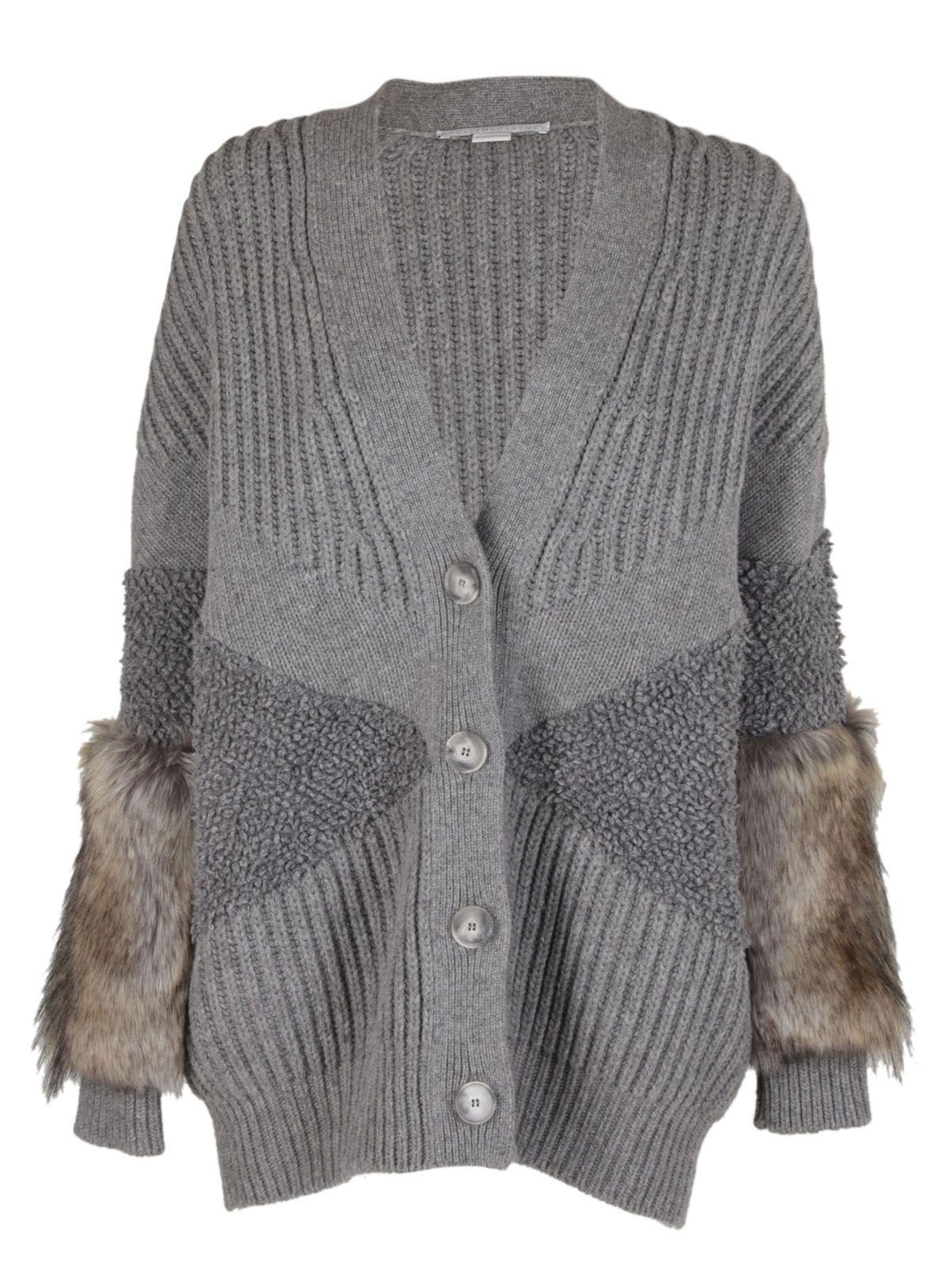 Stella Mccartney Fur Trimmed Cardigan
