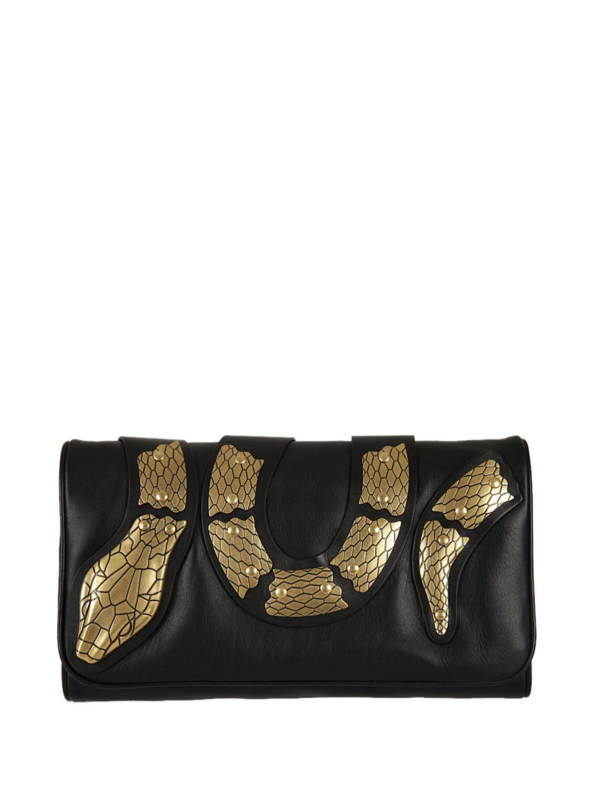 Red Valentino Snake Embellished Shoulder Bag