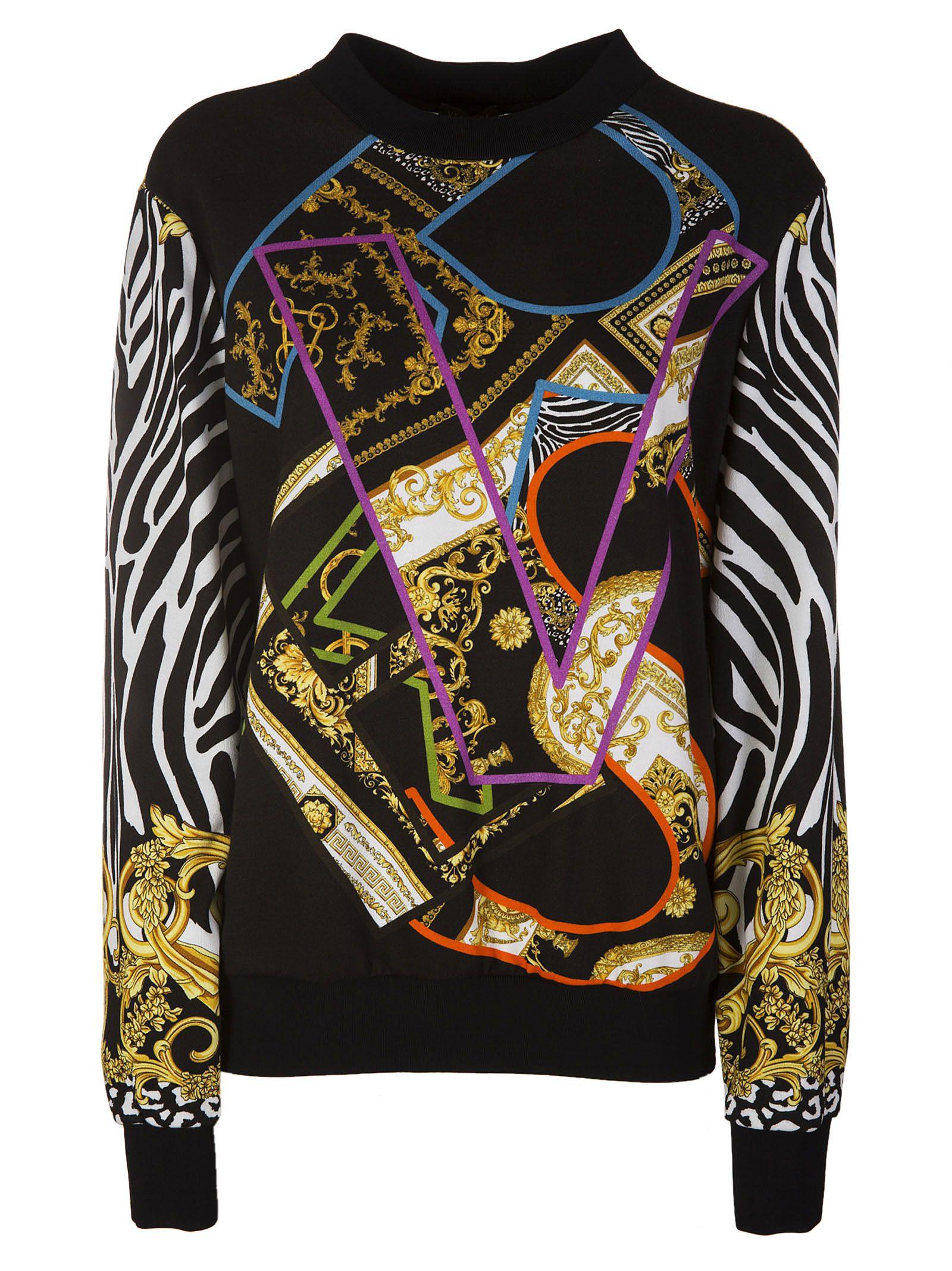 Versace Baroque Branded Sweatshirt