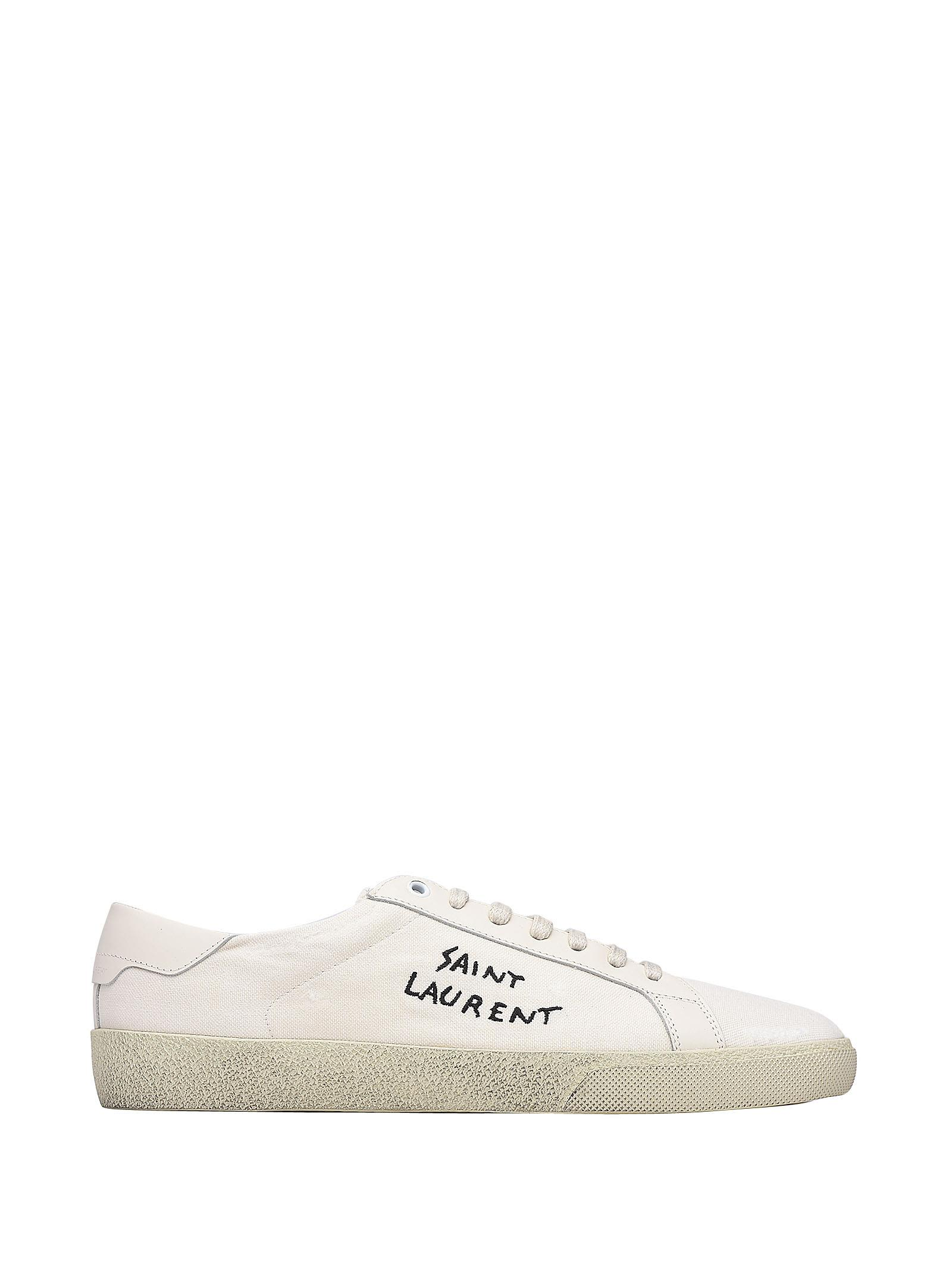 Saint Laurent Court Classic Sl-06 White Sneakers