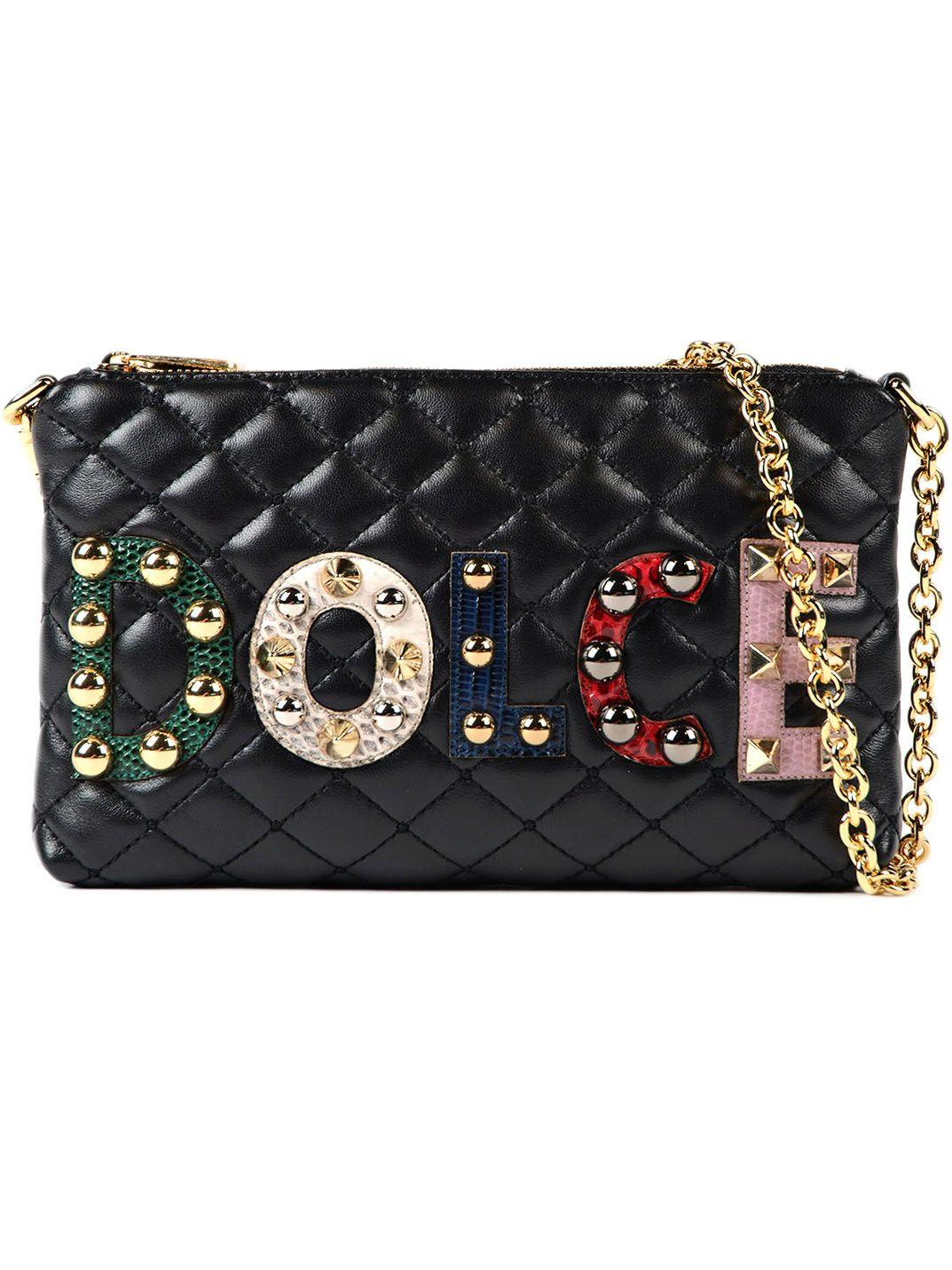 Dolce & Gabbana Dolce & Gabbana Applique Logo Quilted Wallet