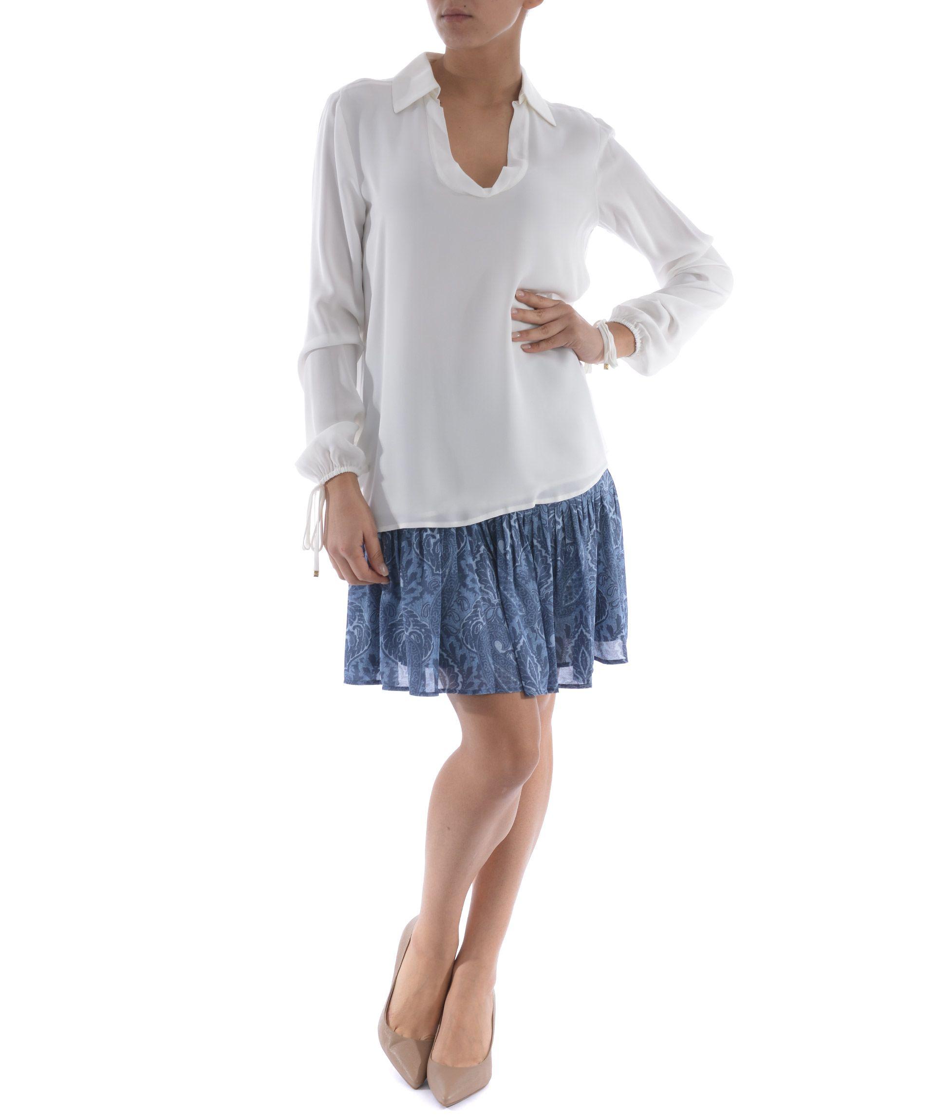 michael kors michael kors silk blouse bianco latte women 39 s bluse italist. Black Bedroom Furniture Sets. Home Design Ideas