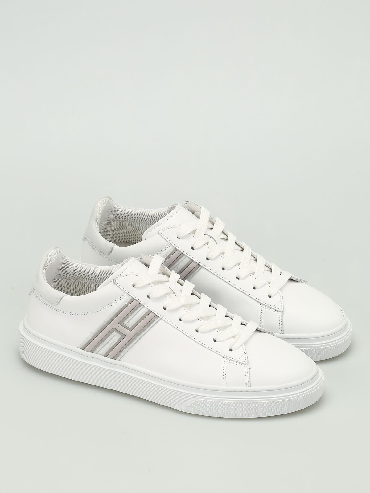 H340 Leather Low Top Trainers