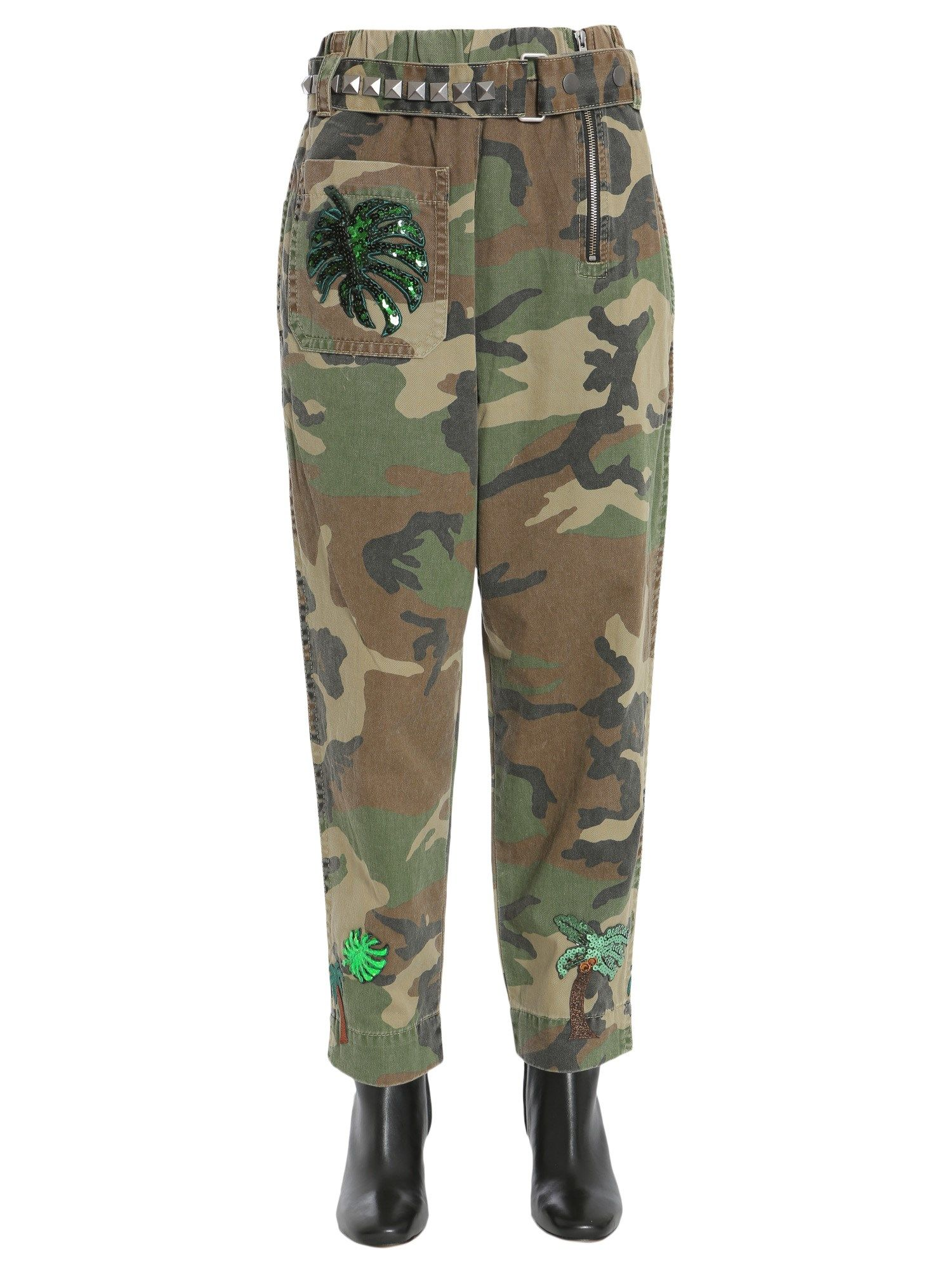 High Waist Camouflage Trousers