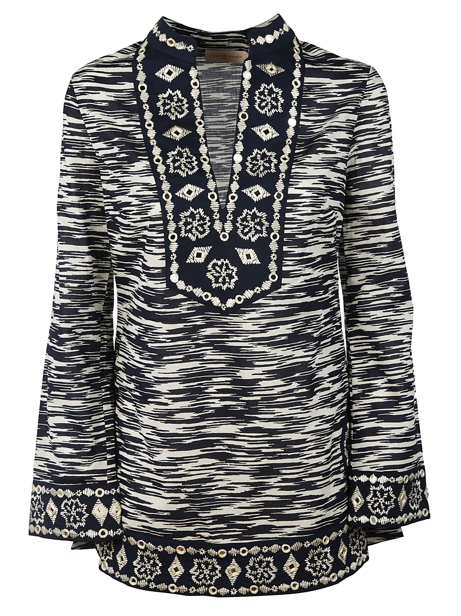 Tory Burch Embellished Tunic Top