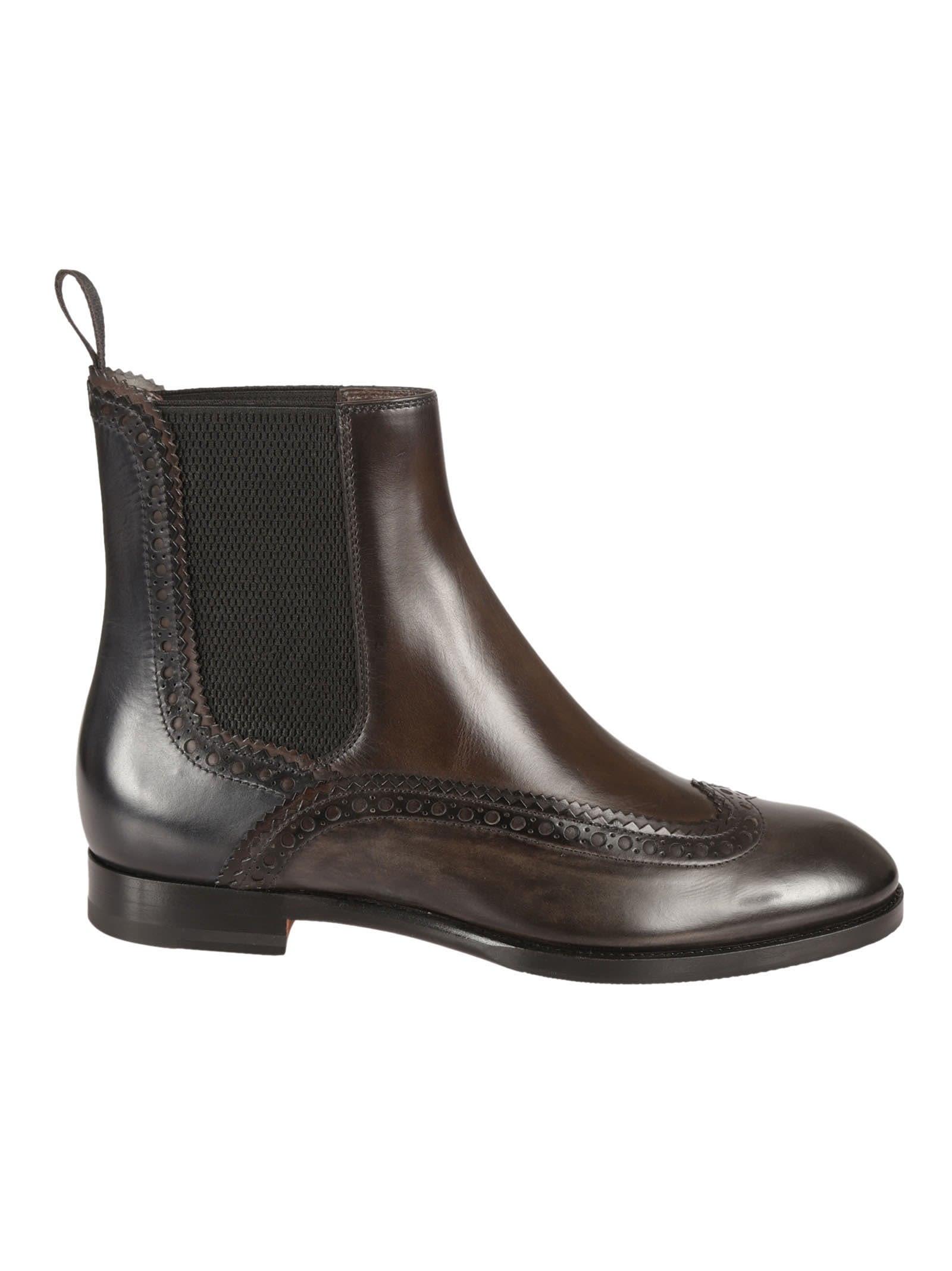 Santoni Brogues Chelsea Boots