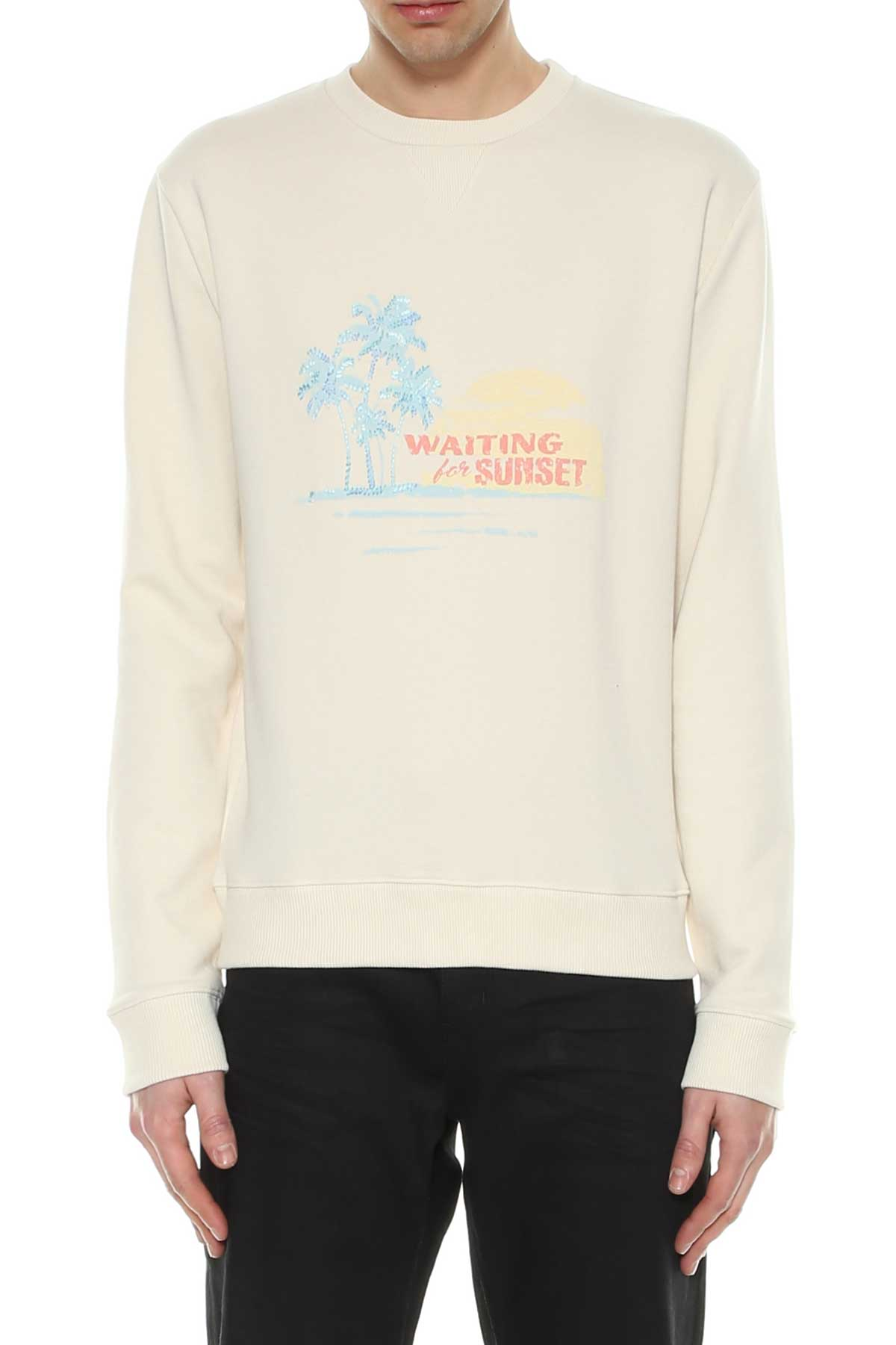 Saint Laurent Saint Laurent Sweatshirt Waiting For Summer Embroidery