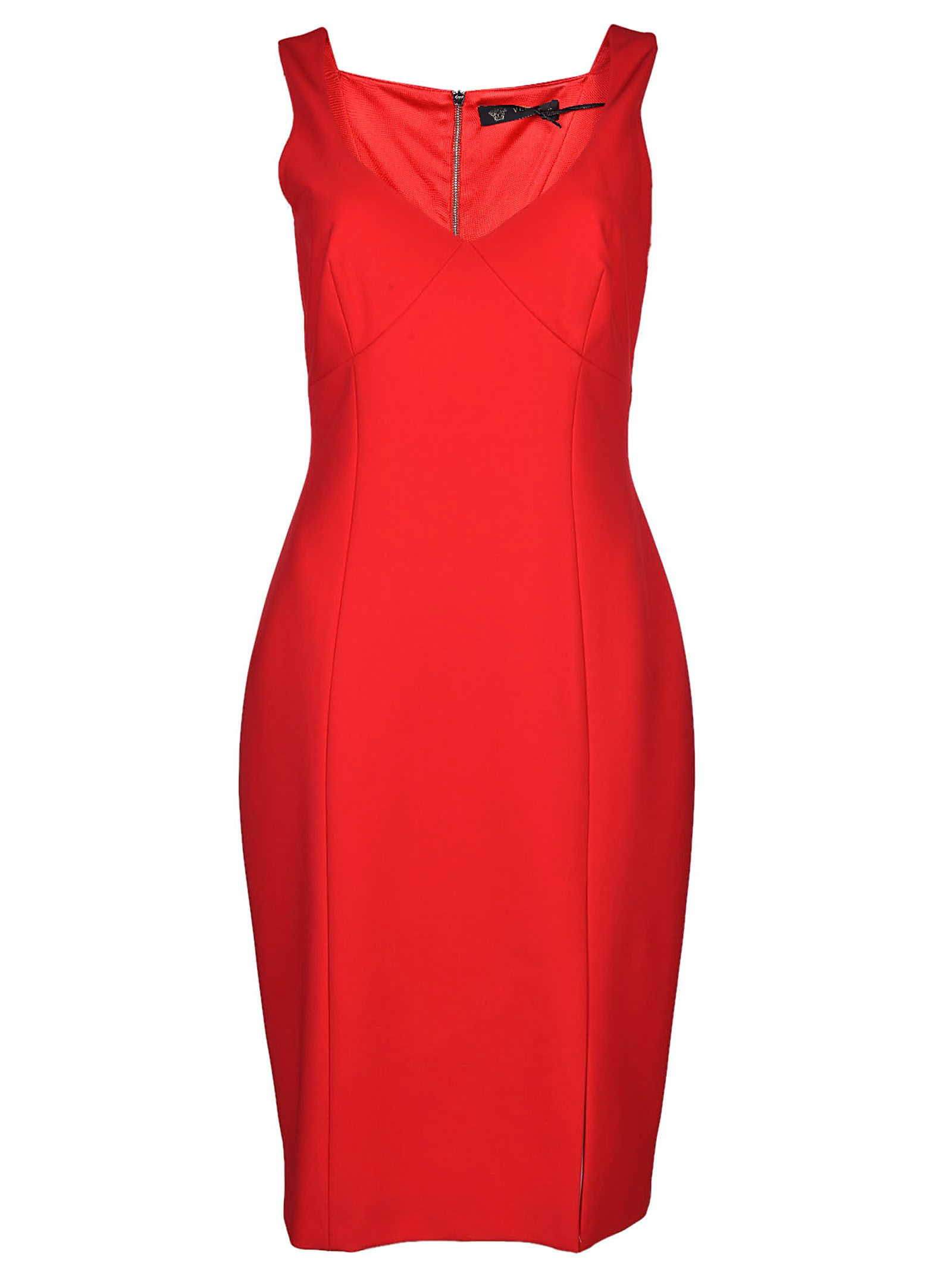 Versace Classic Fitted V-neck Dress