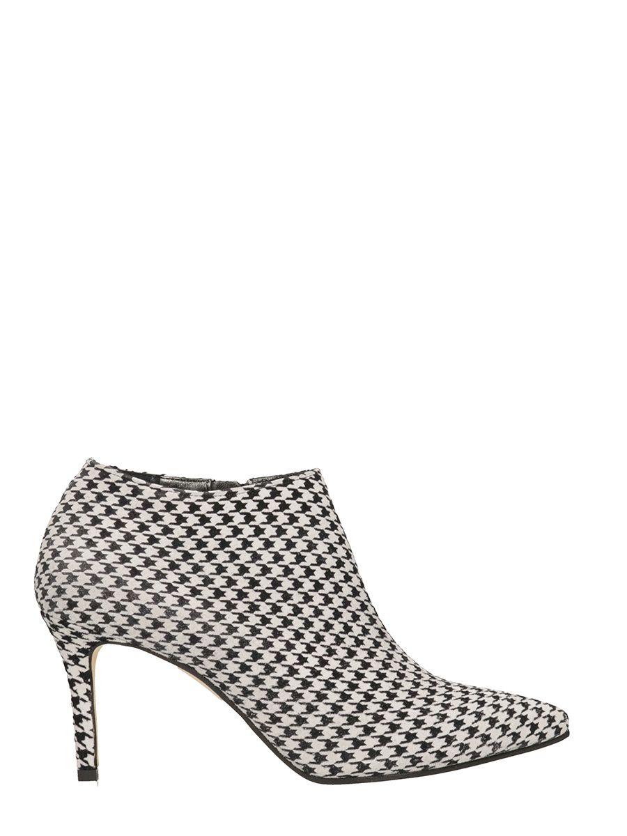 Marc Ellis Pied De Poule Wool Ankle Boots