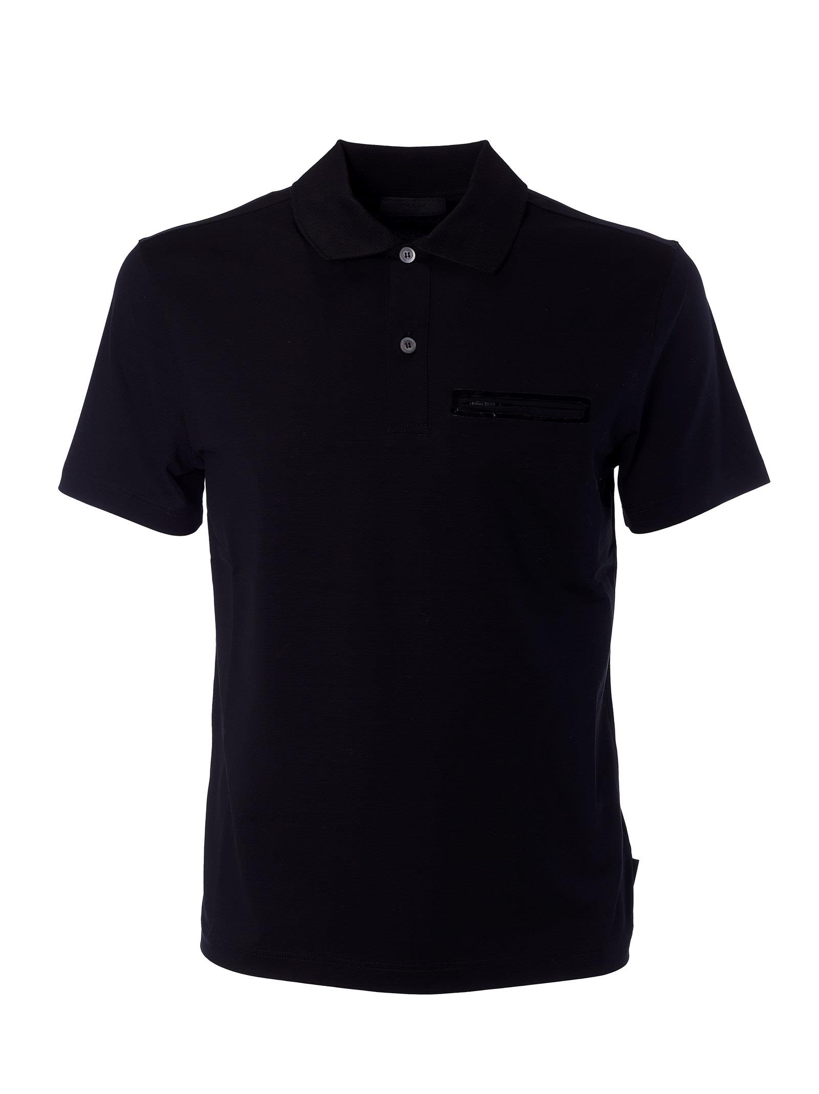 Prada Stretch Pocket Polo Shirt