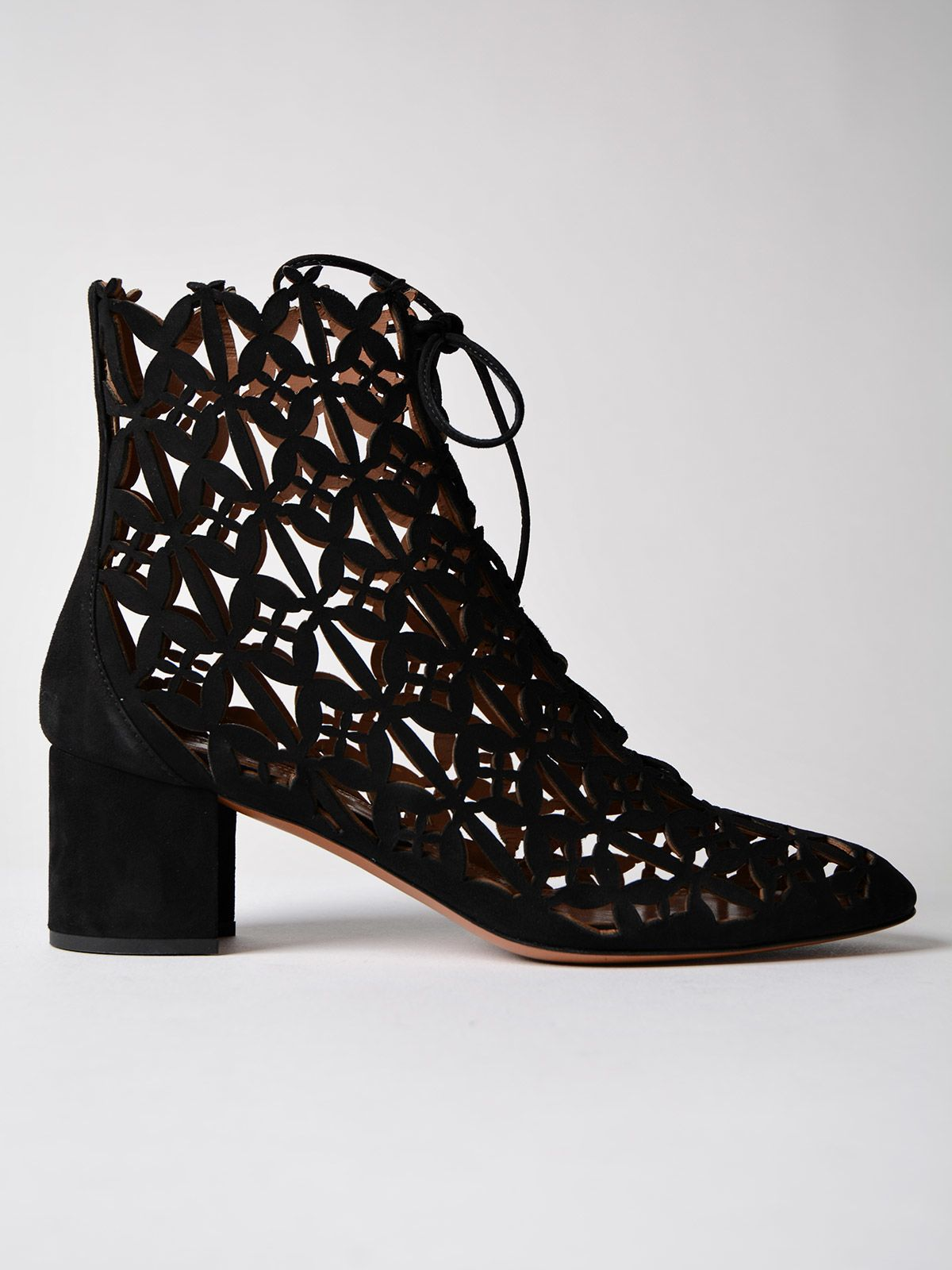 Alaia Cut-out Ankle Boots