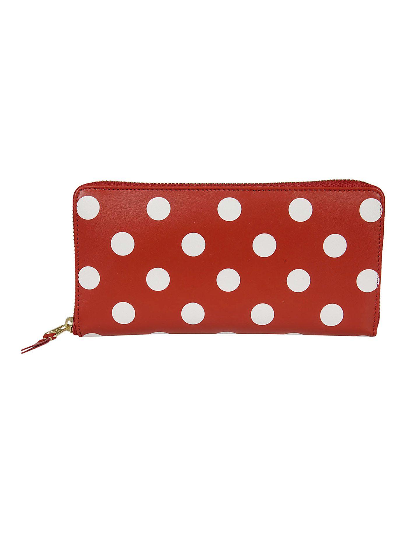 Polka Dots Zip Around Wallet