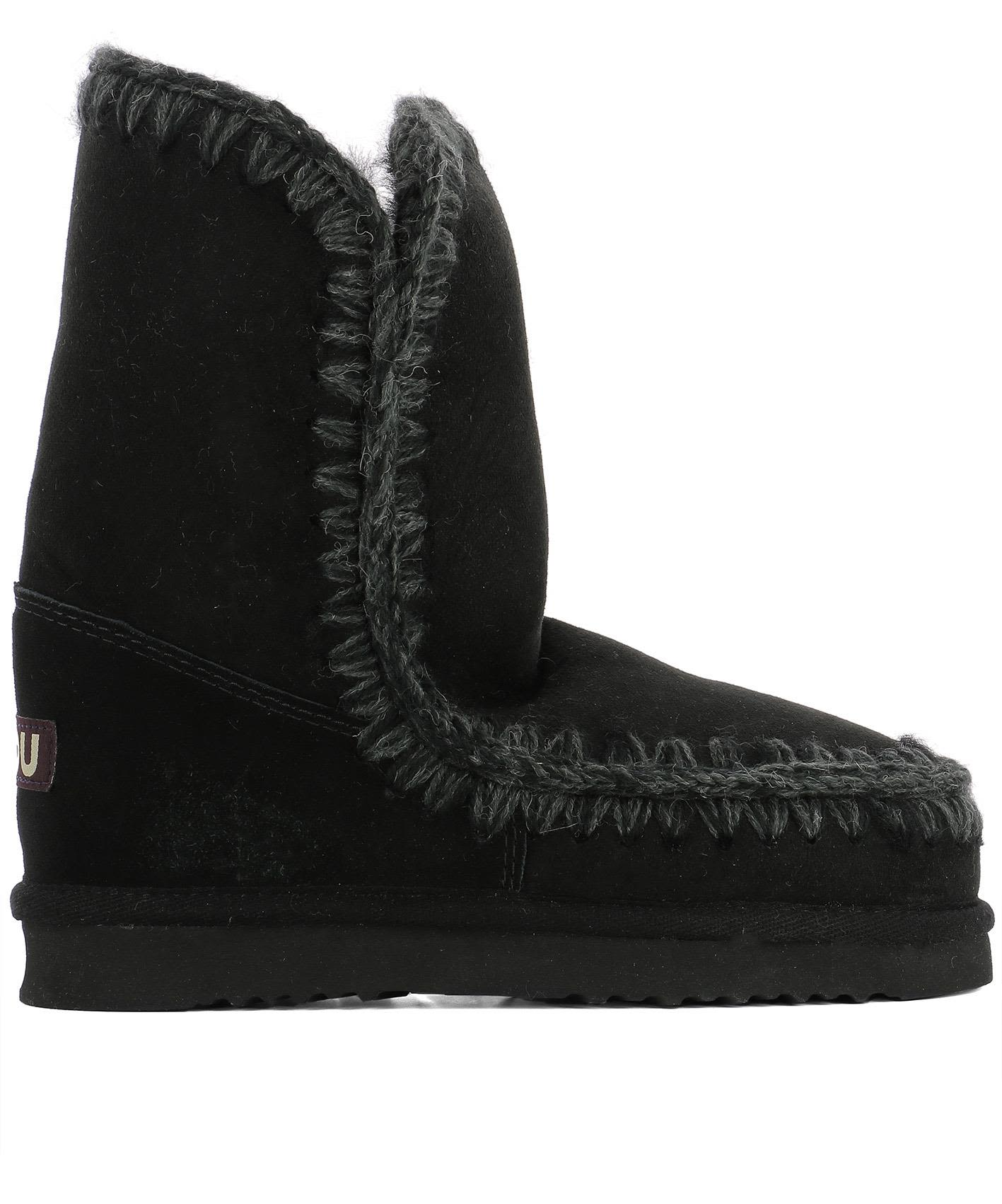 Mou BLACK SUEDE ANKLE BOOTS