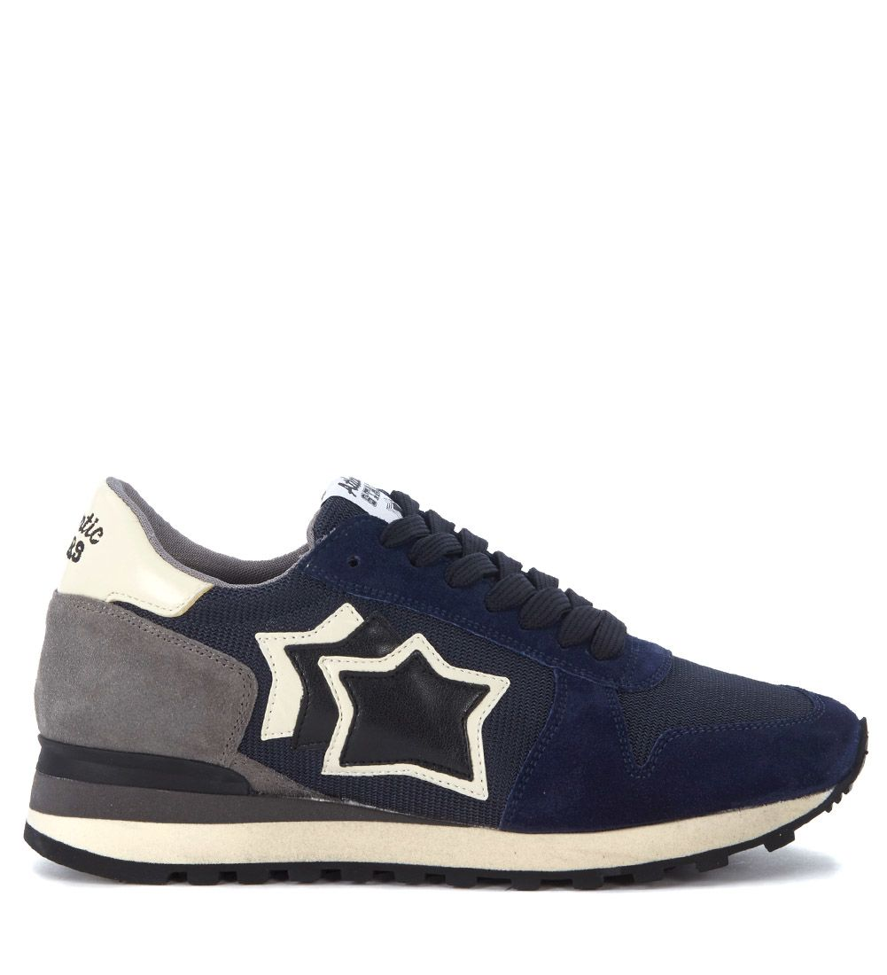 Atlantic Stars Leathers ARGO SUEDE LEATHER AND MESH SNEAKER