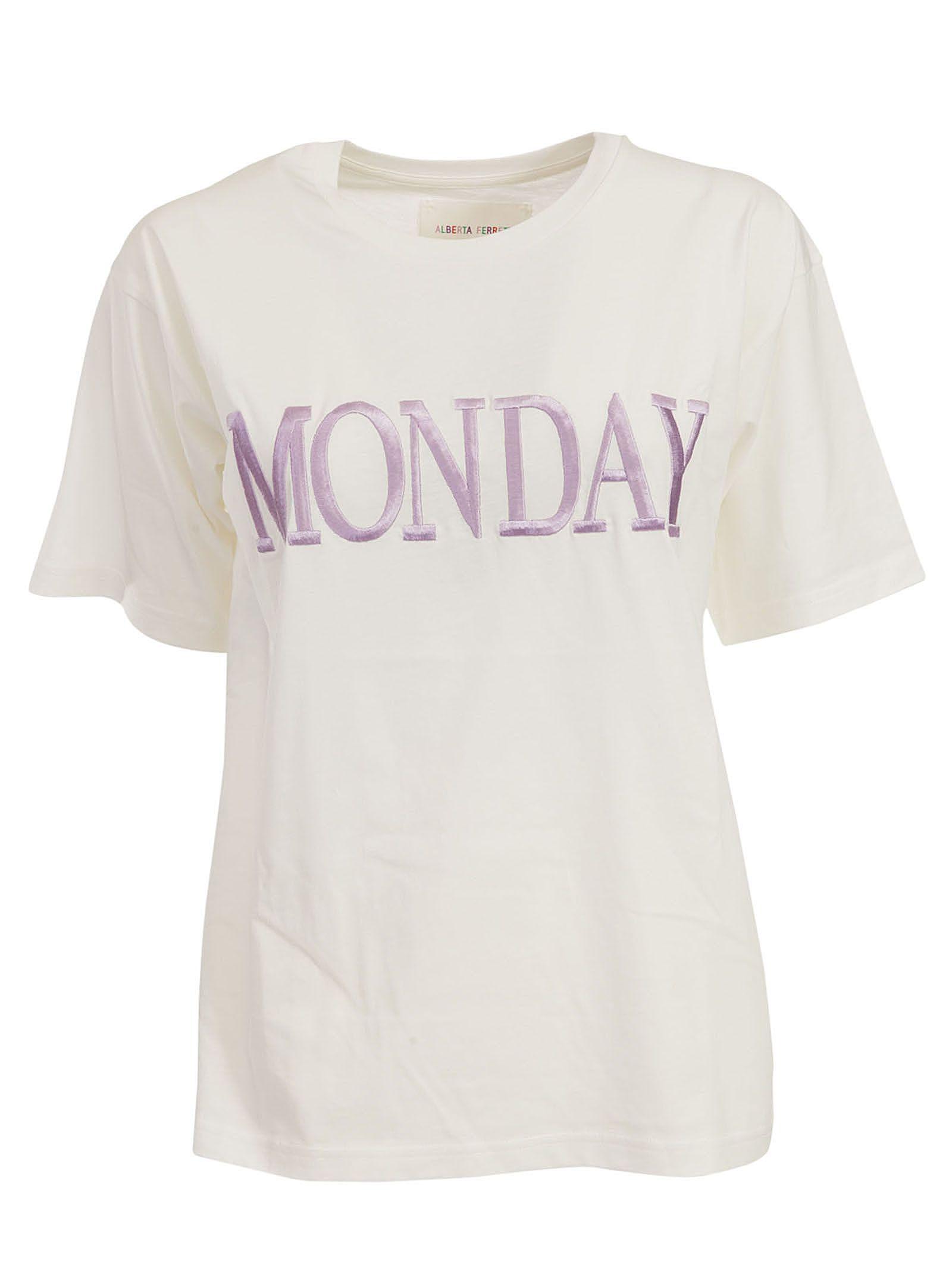 Alberta Ferretti Monday Embroidered T-shirt