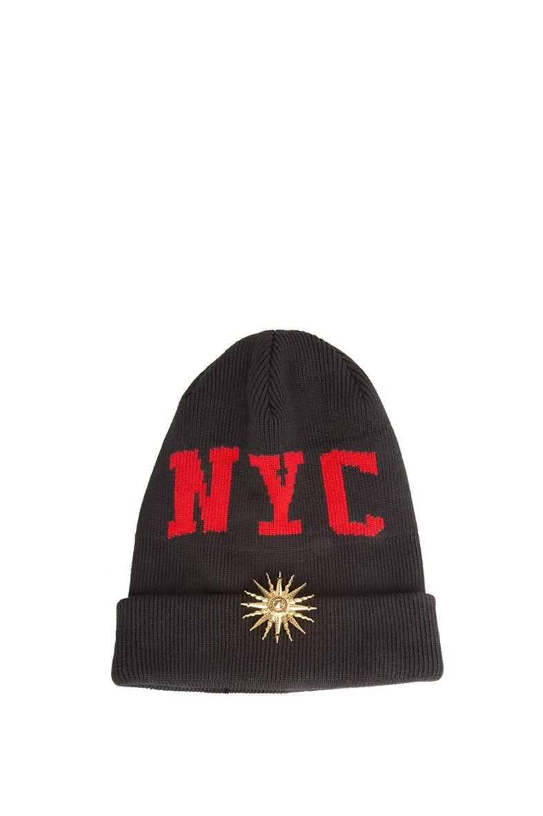 NYC beanie hat - Black FAUSTO PUGLISI