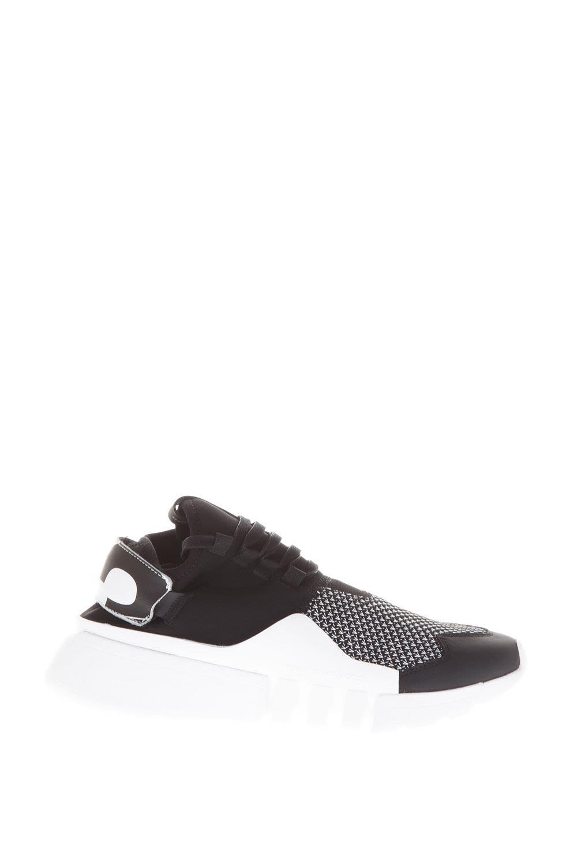 Y-3 Black And White Ayero Neoprene & Leather Sneakers
