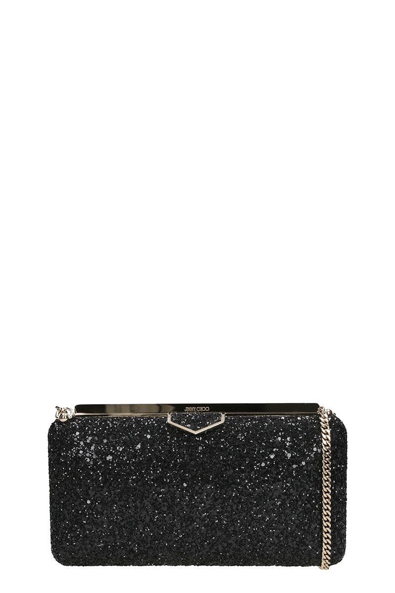 Jimmy Choo Ellipse Glitter Clutch Bag
