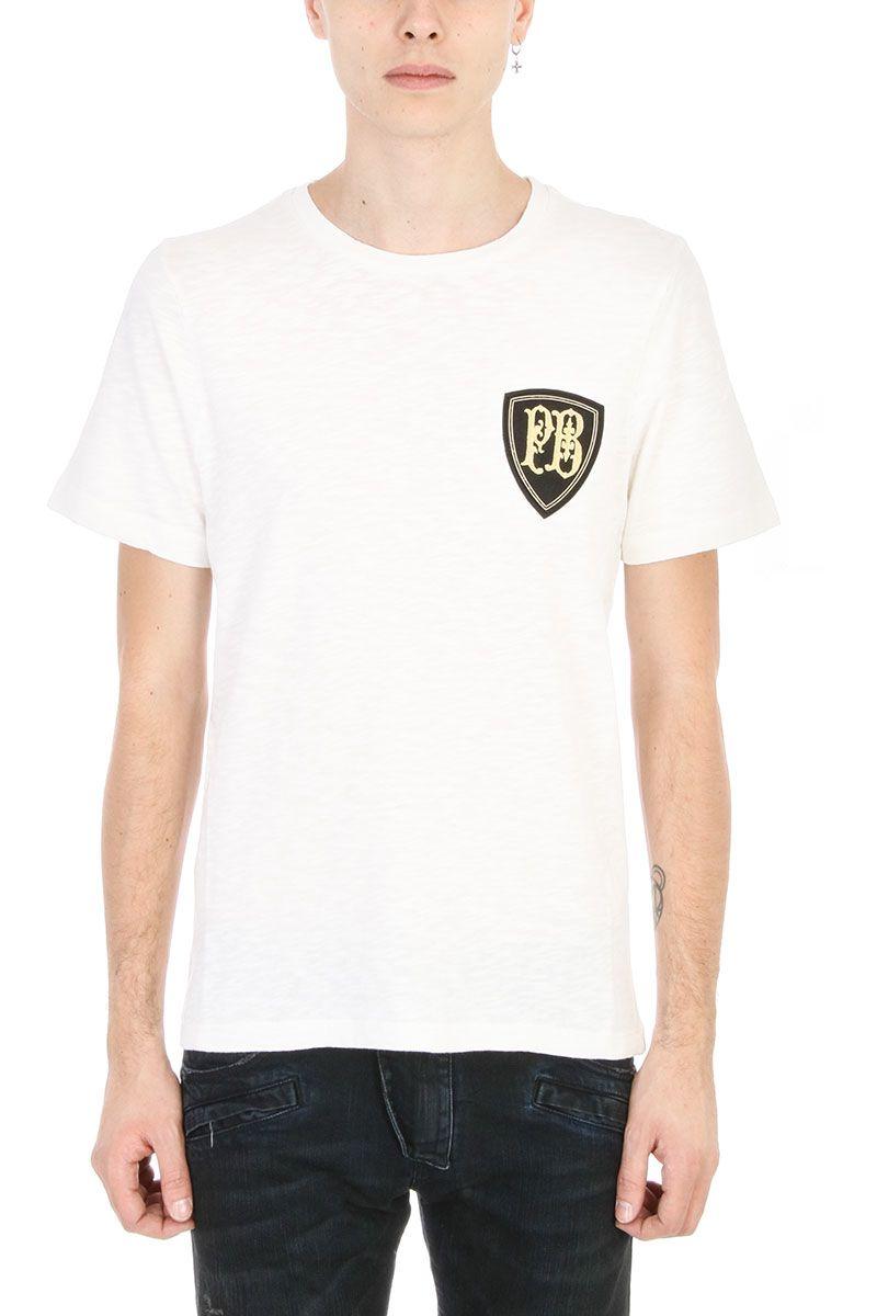 Pierre balmain white crest logo t shirt modesens for Balmain white logo t shirt