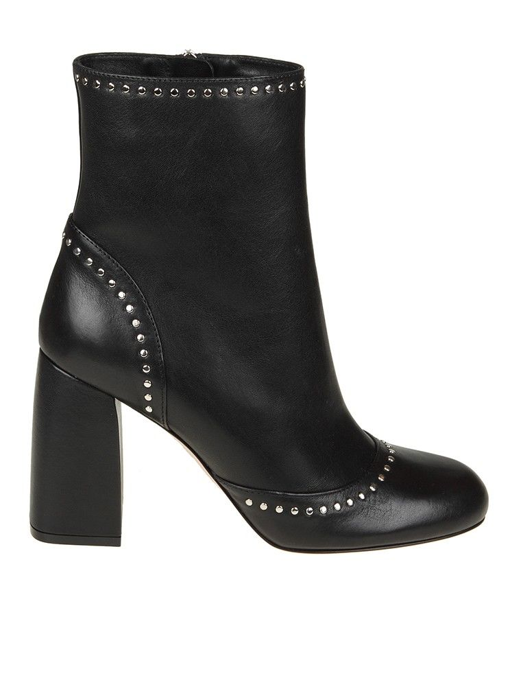 Red Valentino Ankle Boot With Micro Studs Detail
