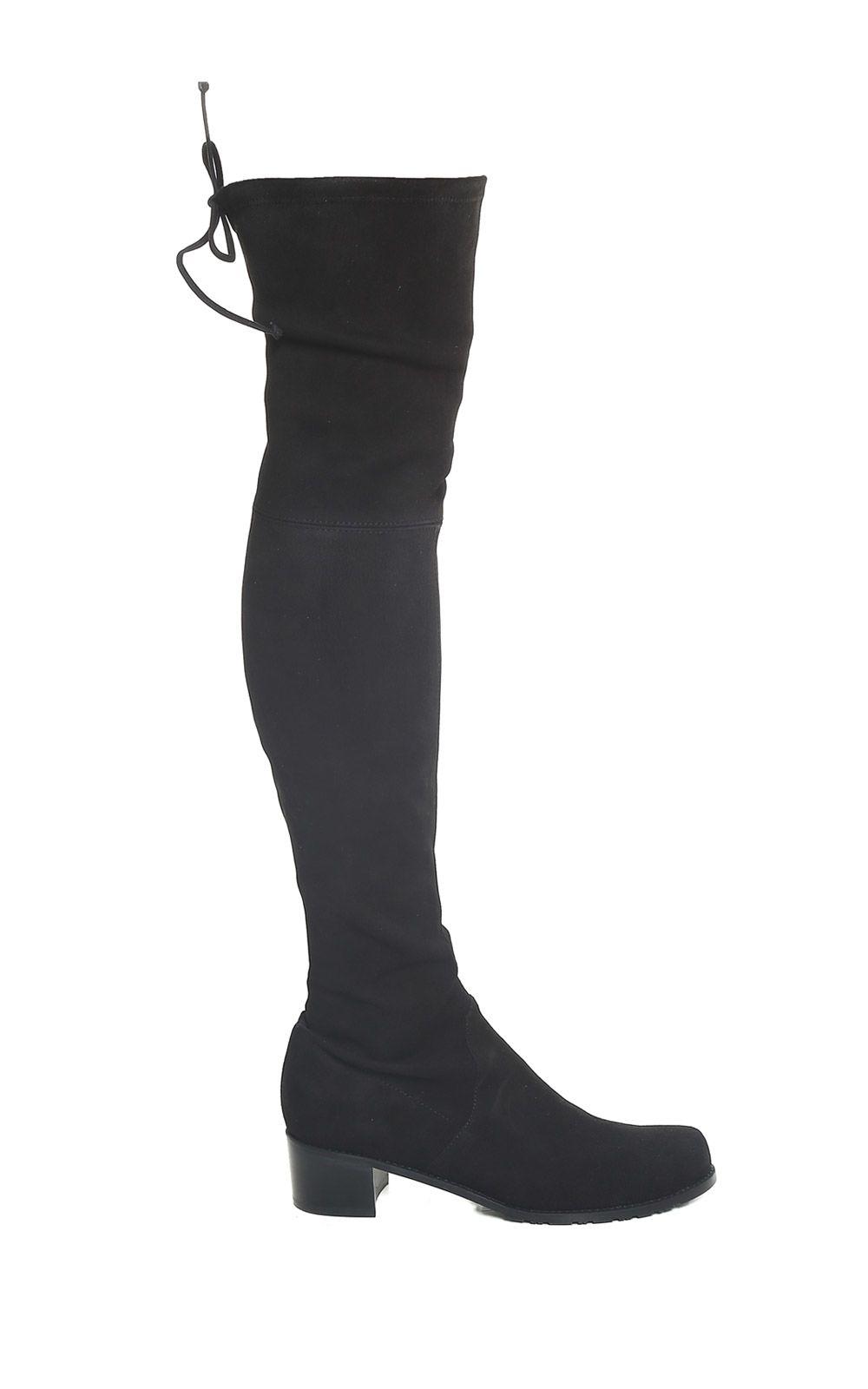 Stuart Weitzman Midland Thigh-high Stretch-suede Boots