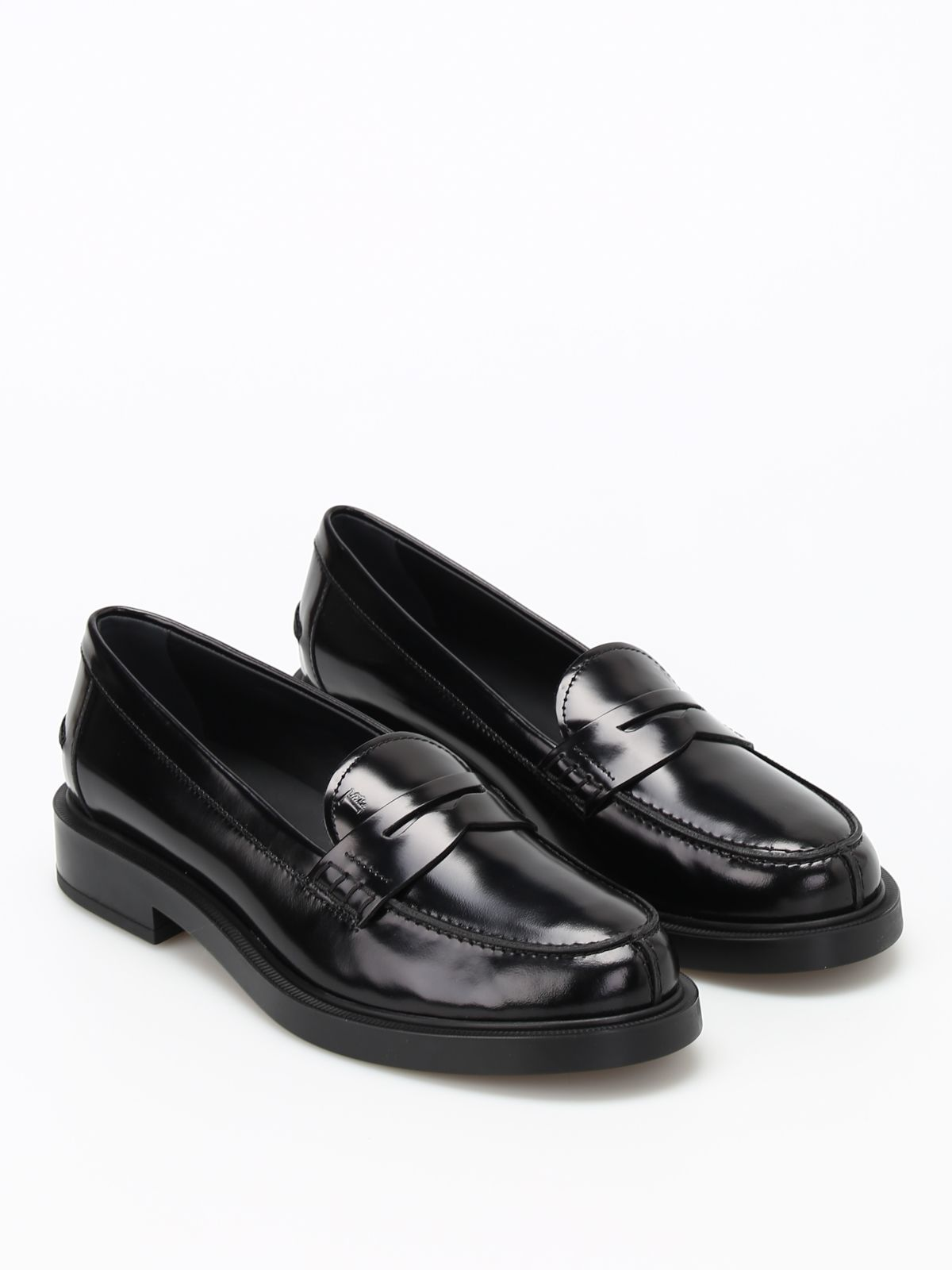 d9f669d28b1 TOD S PENNY BAR DETAILED LEATHER LOAFERS