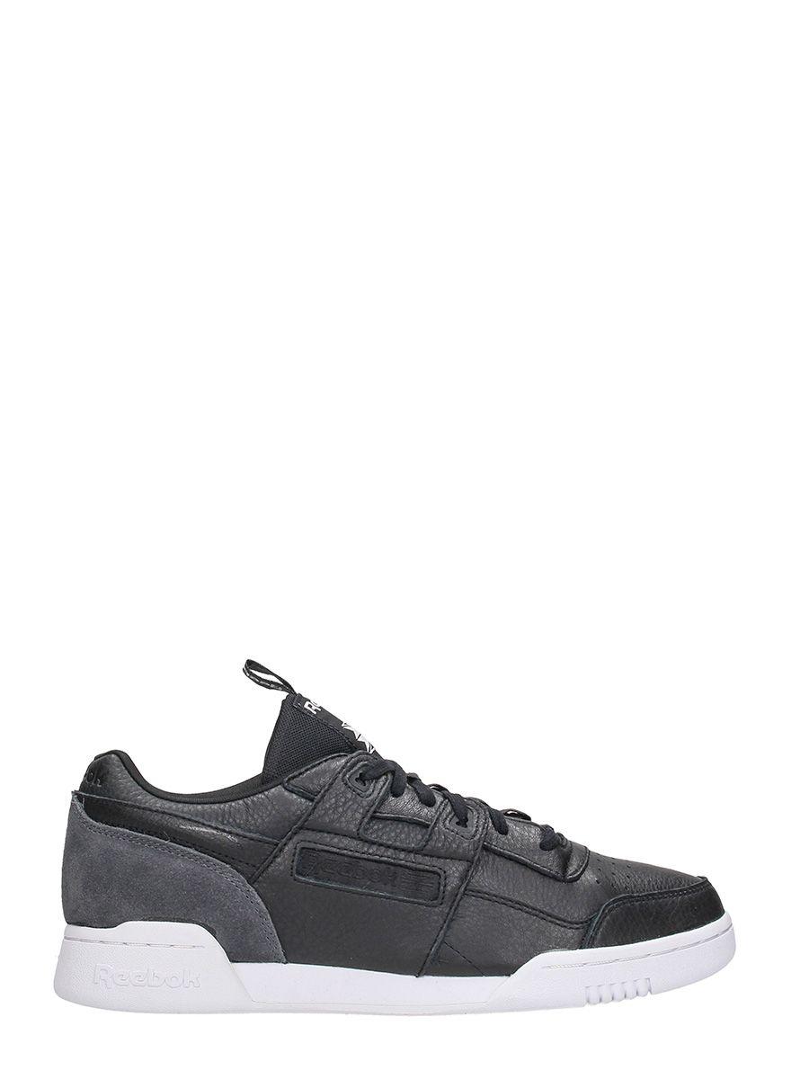 Reebok Workout Plus It Black Leather Sneakers