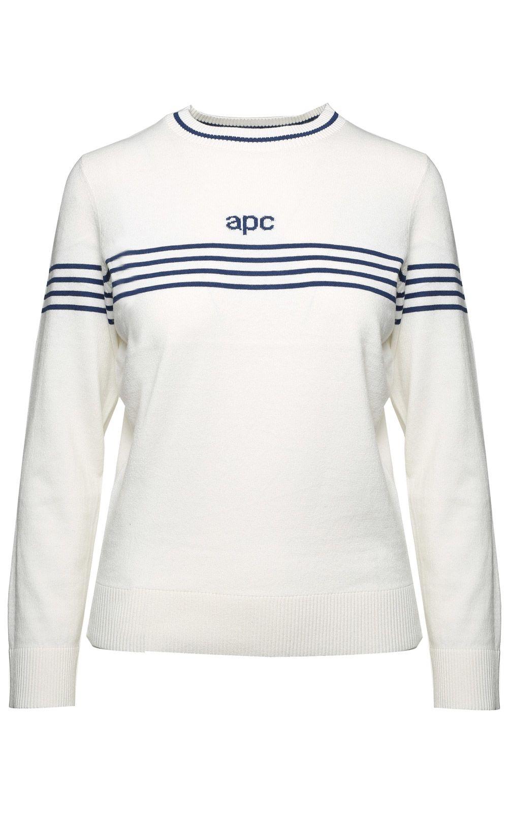 A.P.C. Brand Striped Cotton-blend Sweater