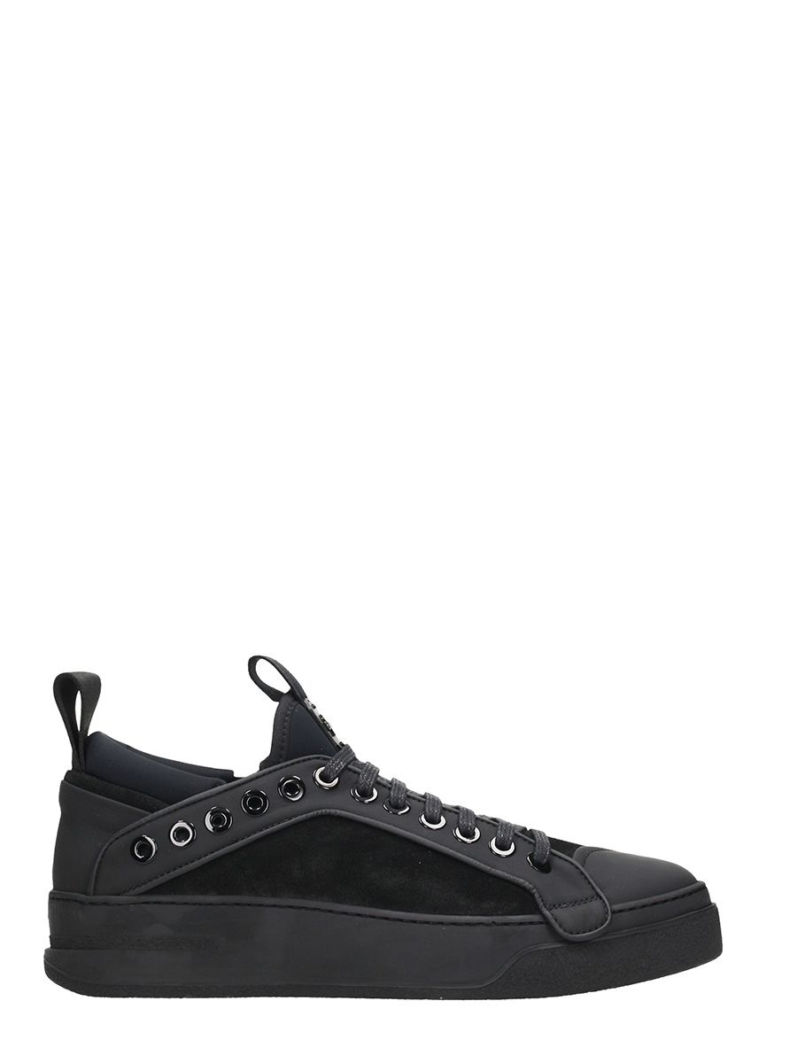 Bruno Bordese Black Suede And Leather Sneakers