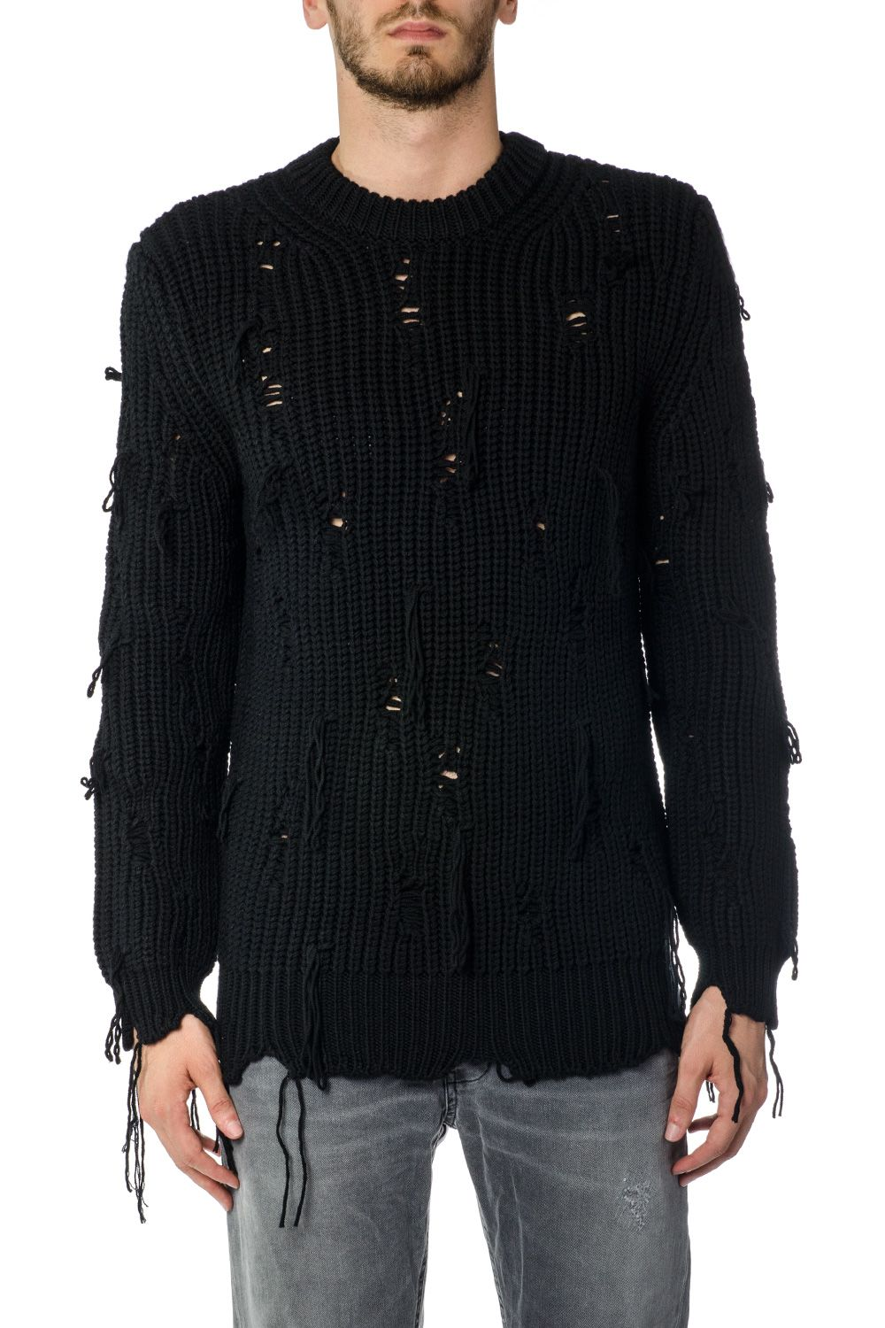 Dondup Virgin Wool Perforated Jumper
