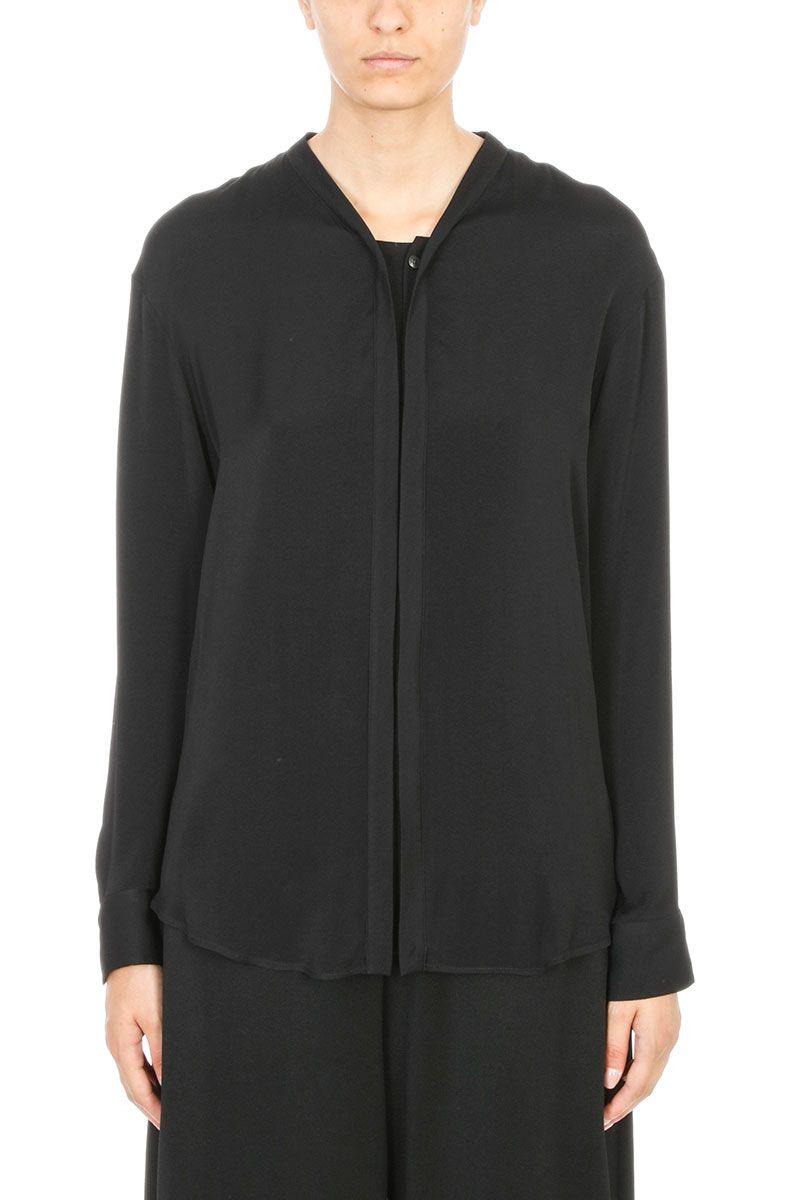 Maison Margiela Black Silk Shirt